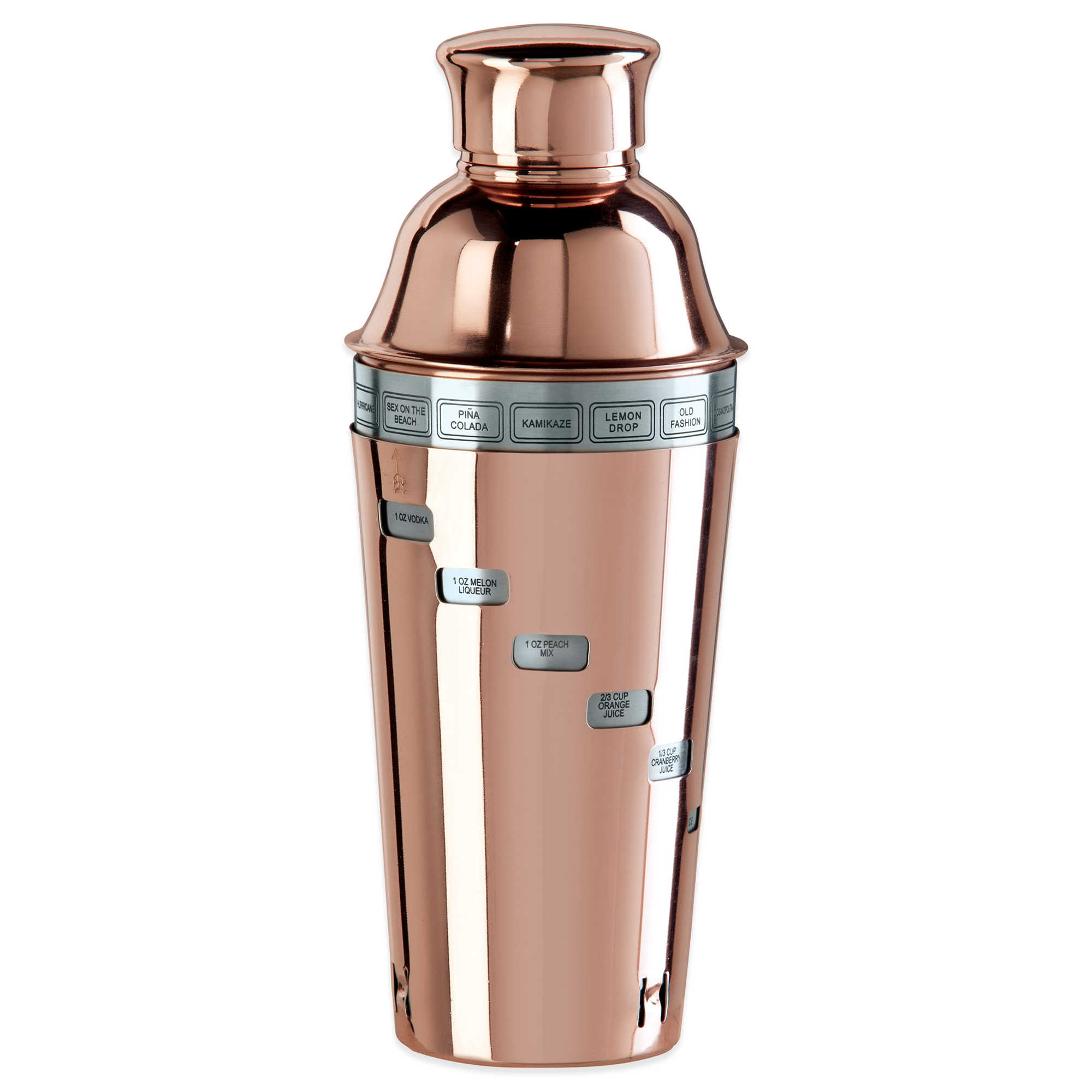 Oggi: Copper Plated Dial A Drink Cocktail Shaker