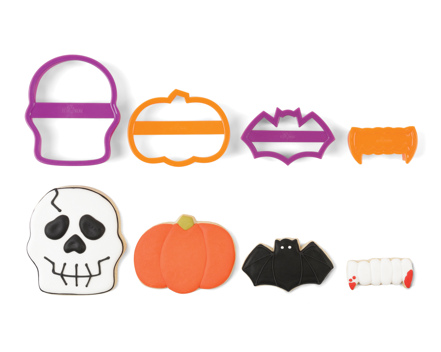 Fox Run: (Skull) Halloween Nesting Cookie Cutter Set