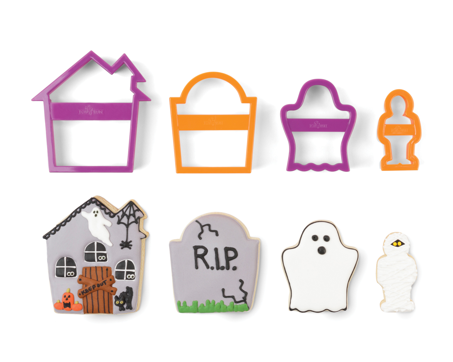 Fox Run: (Haunted House) Halloween Nesting Cookie Cutter Set
