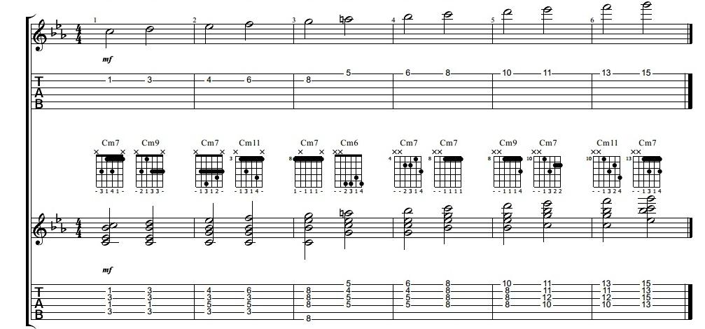 Guitarra jazz: rearmonizar una melodía pdf
