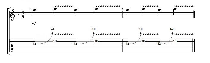 técnica de guitarra: ejercicios bending