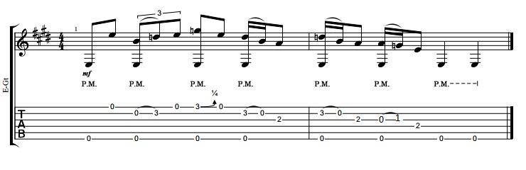 Aprender a tocar guitarra blues. Lick #1