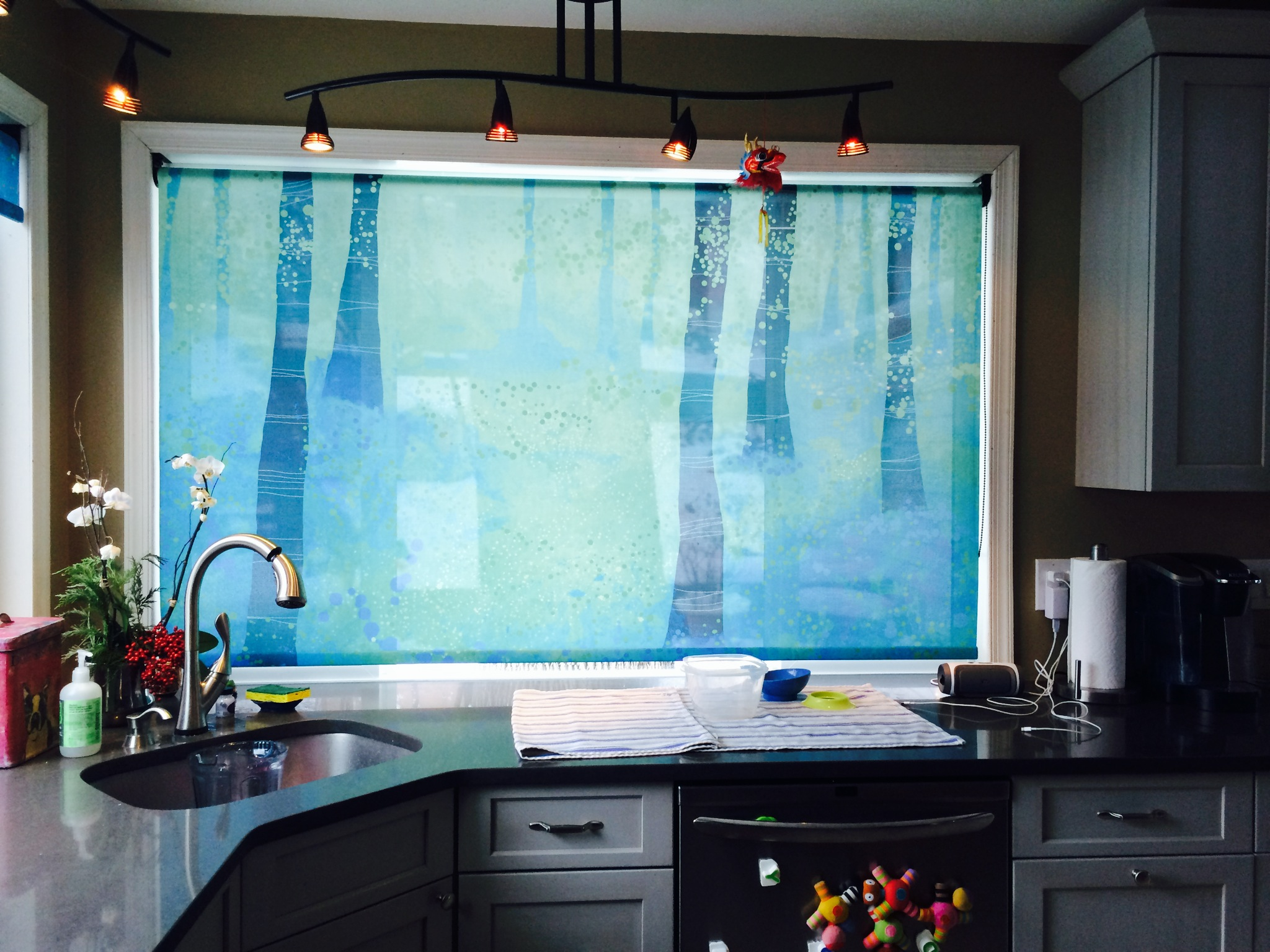 Kitchen Privacy Printed Window Shade