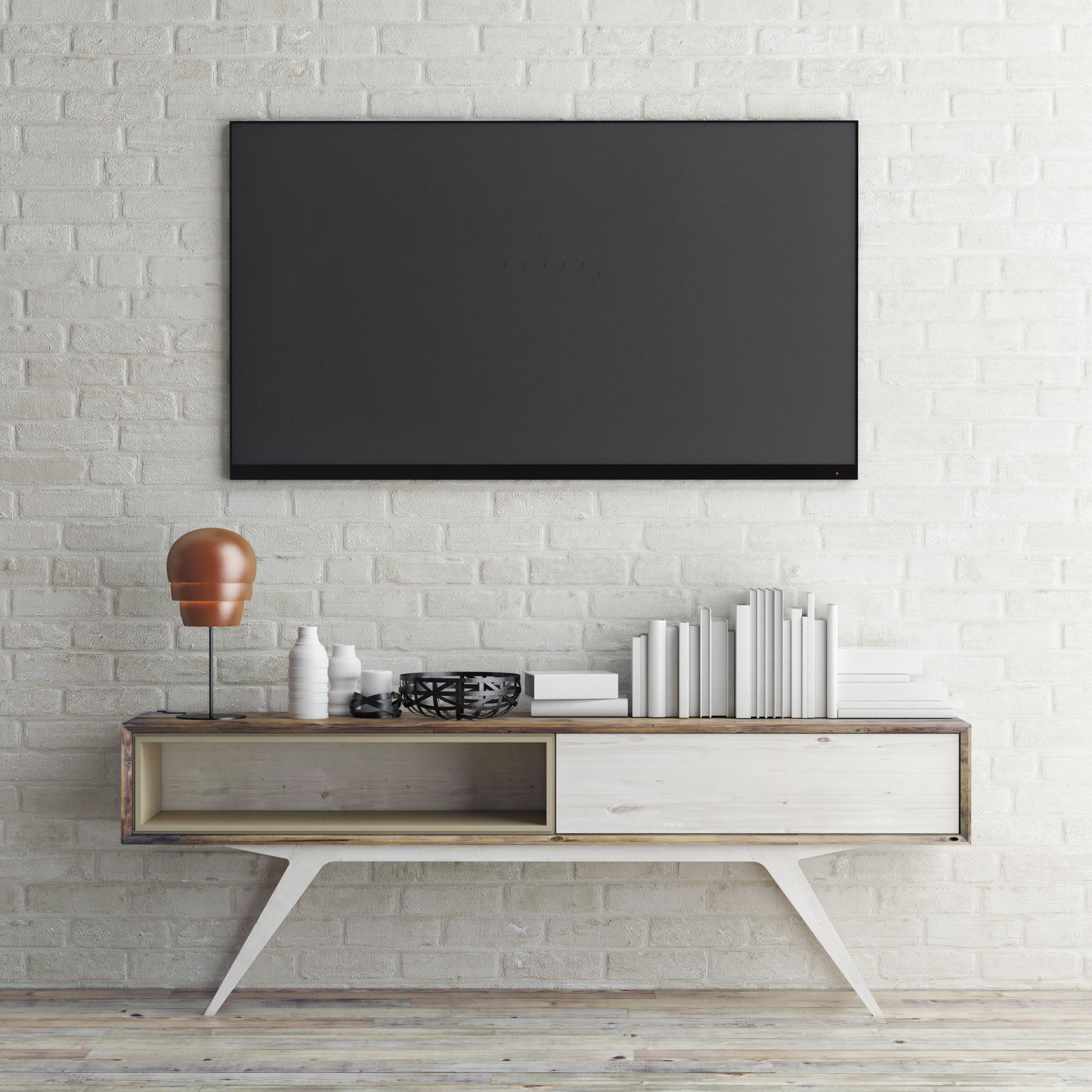 What your TV on your terms. With OrangePiel custom TV cover shades, you can watch TV when you want and enjoy artwork unique to you when not.