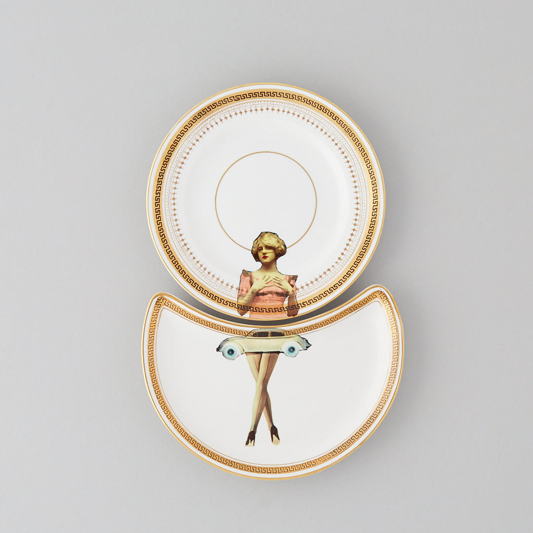The Classic Collection - The original designs of the upcycled vintage range are designed to give a sought after, contemporary twist to the classic, decorative plate. By using a variety of images juxtaposed with the original designs, the plates are designed to work individually or in pairs. Some are matched, others are mismatched adding to the charm of this upcycled decor.But all are guaranteed to be a talking point and to raise a smile when displayed on a wall.And every piece is unique, defining this collectable, decorative range.The plates in this range are all unframed but please contact me if you would like to have them framed - examples of my framed pieces can be seen in the Gallery collection below.