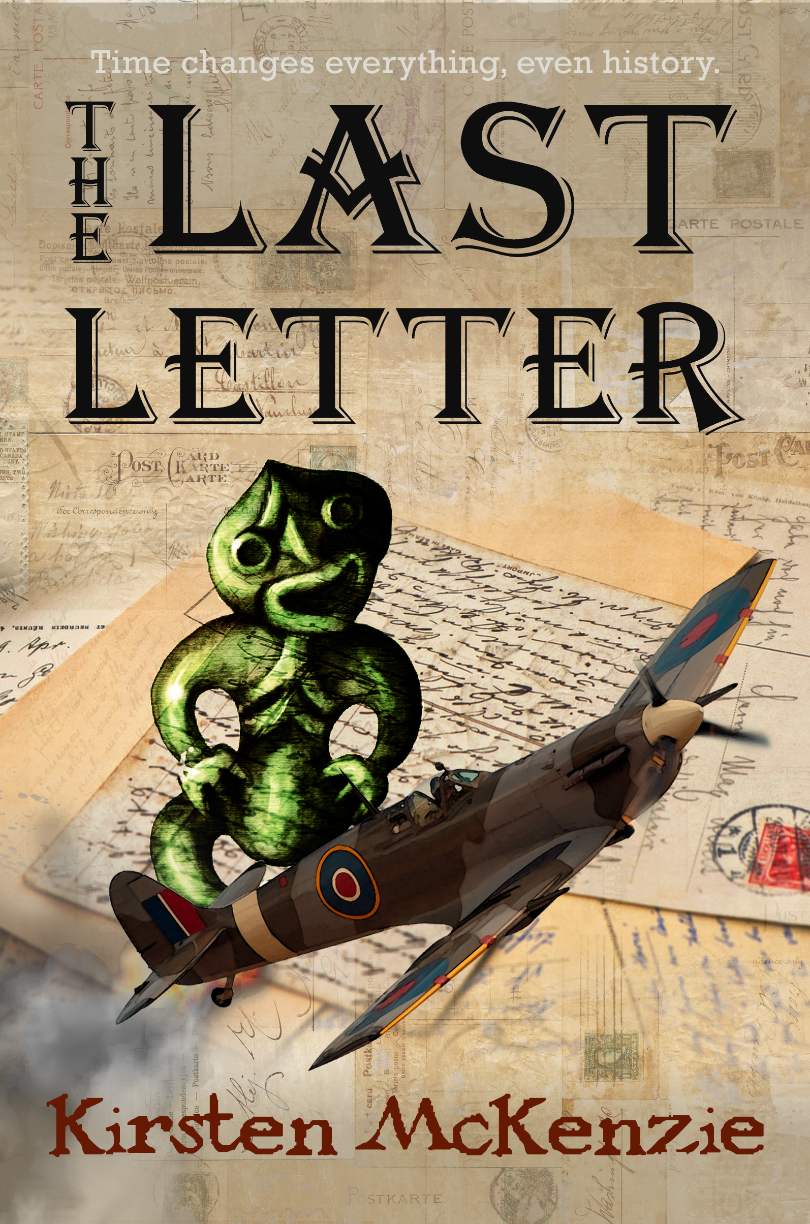Draft #2 of the cover for 'The Last Letter'. We all agreed that the balance was out.