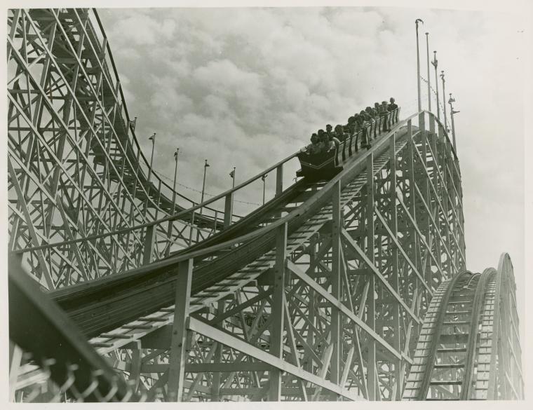 Rollercoaster Postcard