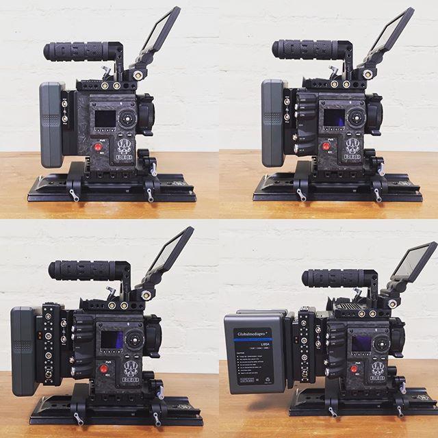 Keeping it modular.  #redweapon #reddigitalcinema #switronix #woodencamera #elementtechnica #cinematography #setlife #cameraprep
