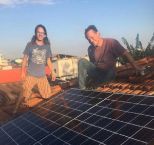 Connor and Eric installed solar panels.