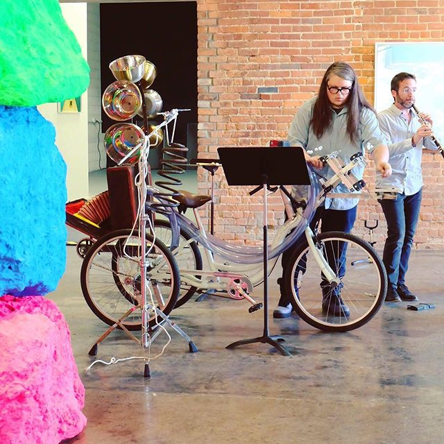 @juankixote built this crazy percussion/accordion bike for me and @akropolis5tet to play with. The great composer Steve Snowden wrote us a sextet which gets its premiere tonight at @wassermanprojects and tomorrow at @kerrytownconcerthouse (also performing a Cactus Concert set on these shows!) 🚲 🌵 🍩  _____ #percussionist #soundfx #foley #contemporaryclassical #newmusicrelease #detroitmusic #worldpremiere #detroitbikes #bikelife #slowroll #hellyeahdetroit #detroitartist #detroitmusicians #accordion #classicalmusic #cyclistlife