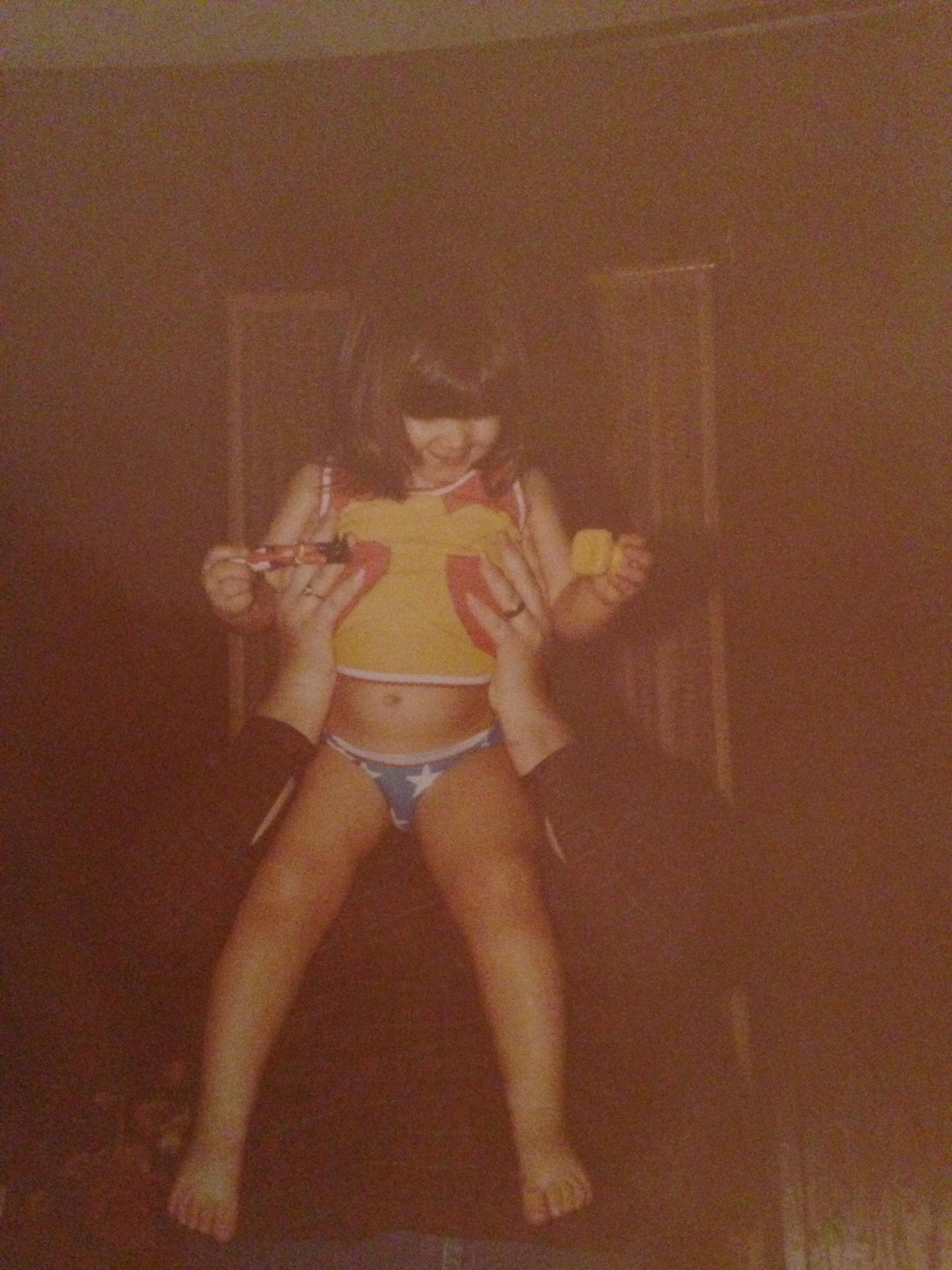 1981. Me, being held aloft by my mother wearing the Wonder Woman underoos of Legend.