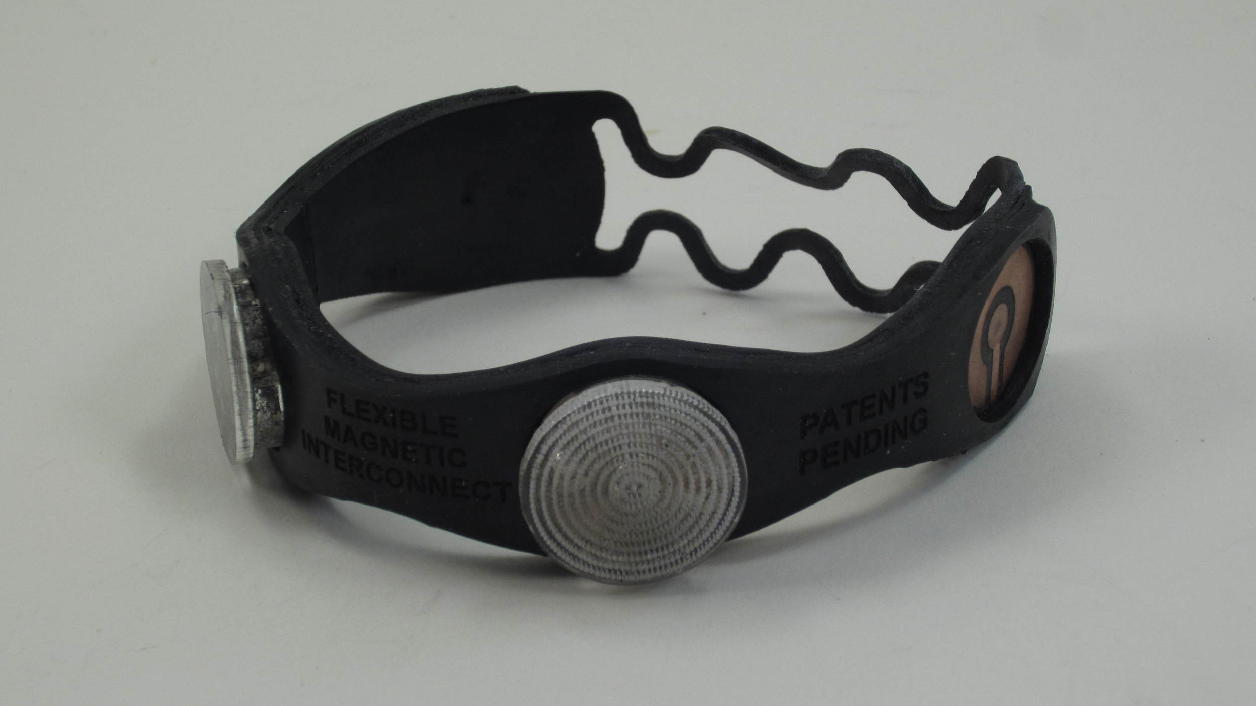 Rubber bracelet with battery puck removed