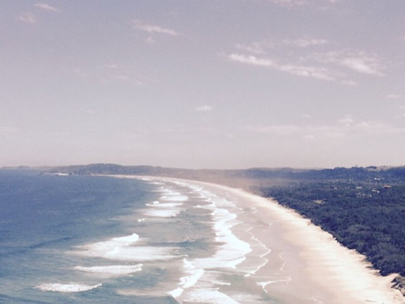 The view from the Lighthouse at Byron Bay.