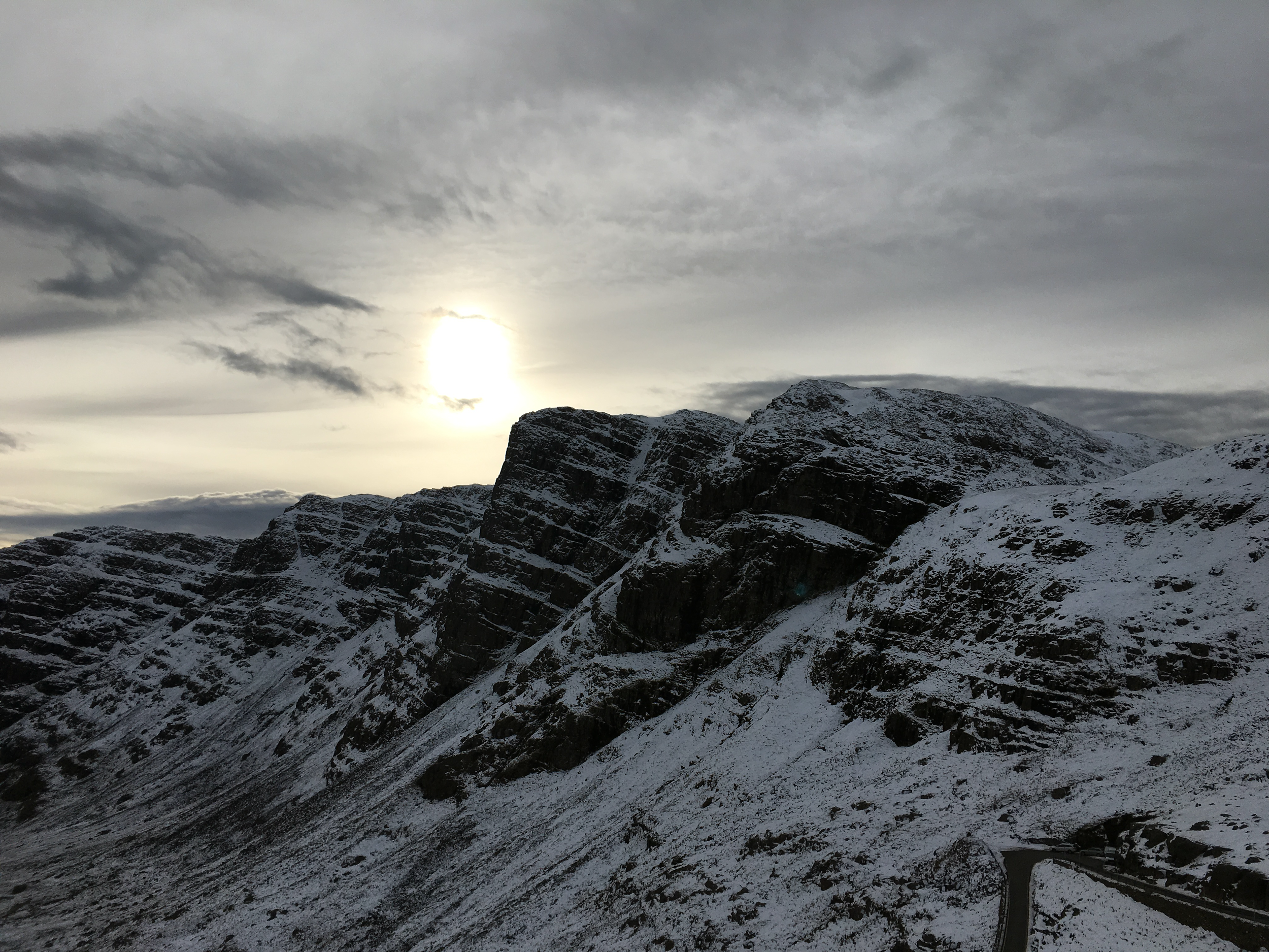 the view of the bealach na ba harpin curve