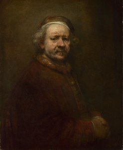 """""""Self Portrait at the Age of 63"""" 1669 Oil on canvas, 86 x 70.5 cm The National Gallery, London"""