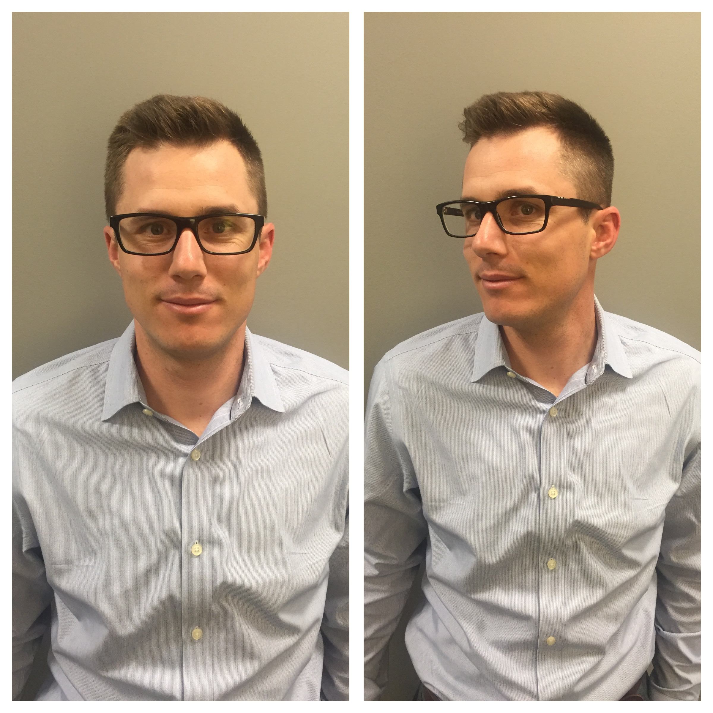 Men's short professional haircut