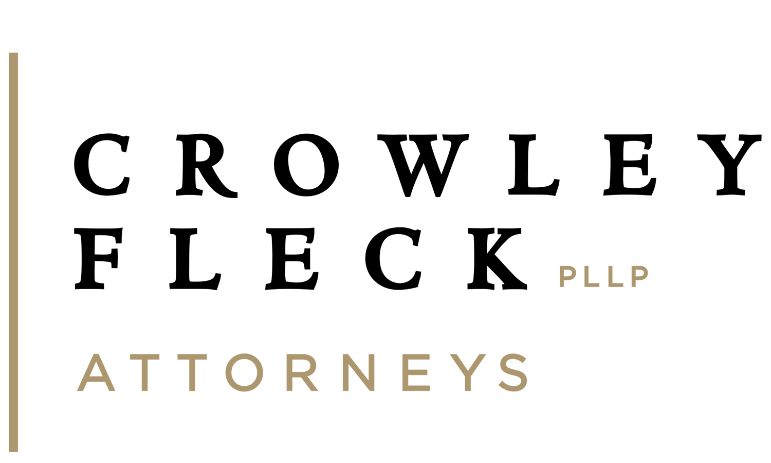 - A huge thanks to Crowley Fleck Attorneys for sponsoring