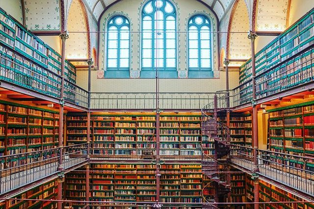 I have never stepped into a library and not felt suffused with the feeling that an adventure is beginning.#rijksmuseum #netherlands . #library #amsterdam #librariesofinstagram #librarylife #bookstagram #book