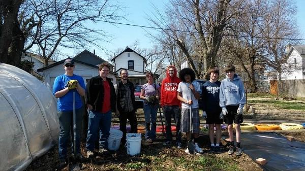 Spring break clean-up crew.