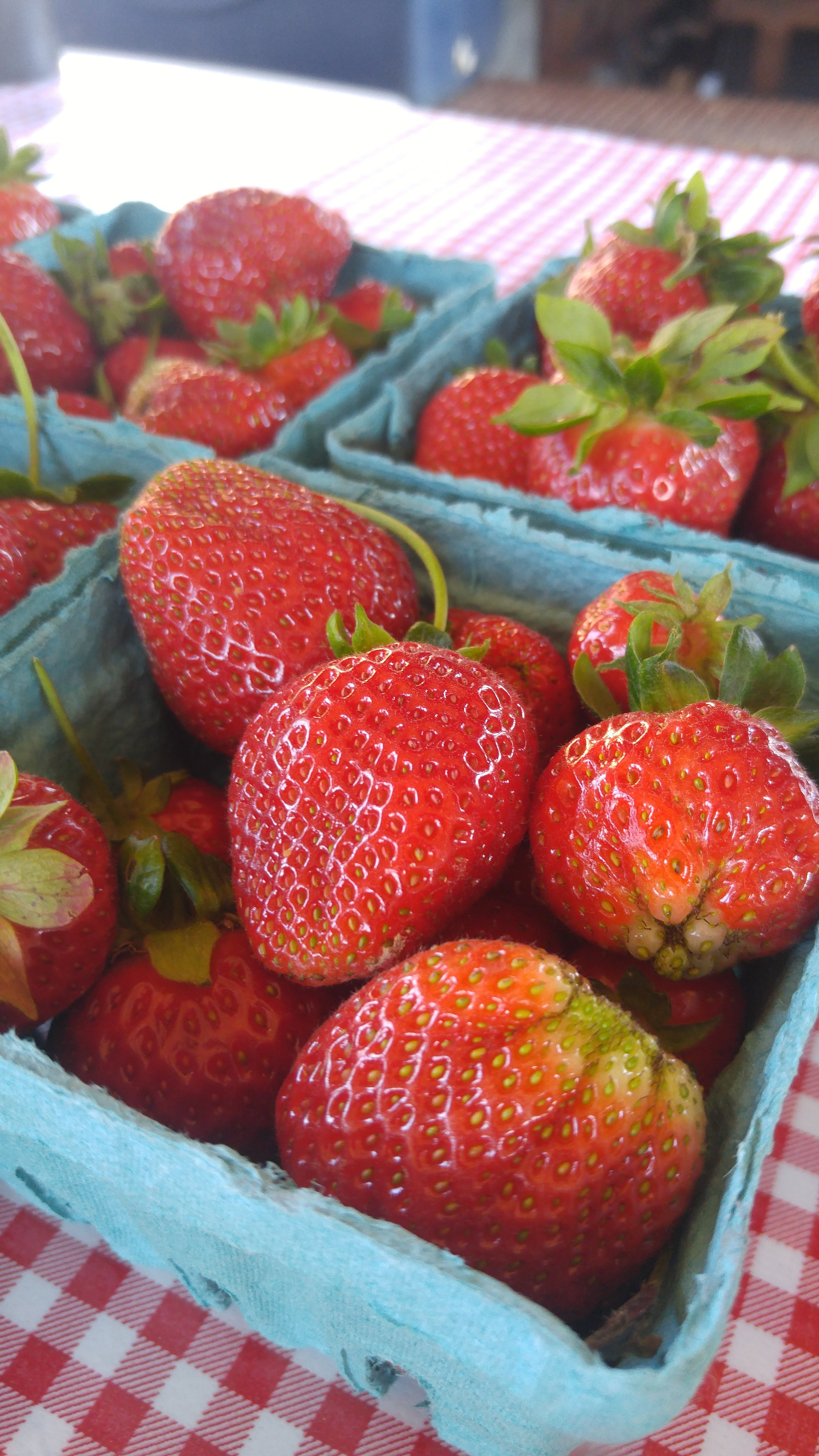 Summer's first strawberries. No recipe required.