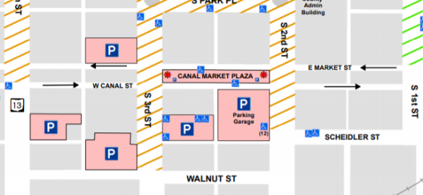 Click to view the full parking map.