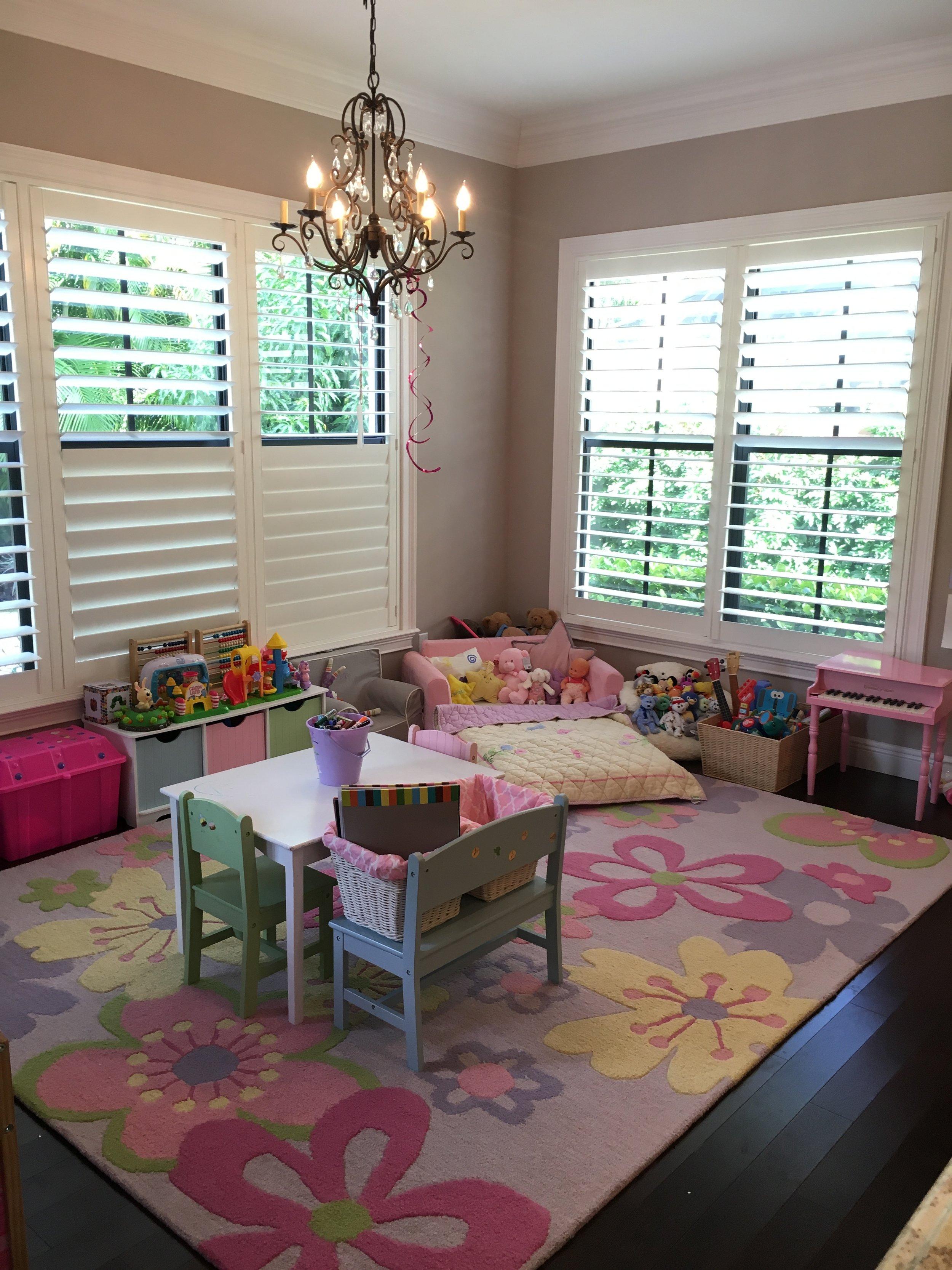 Reorganized playroom by Tatiana Knight