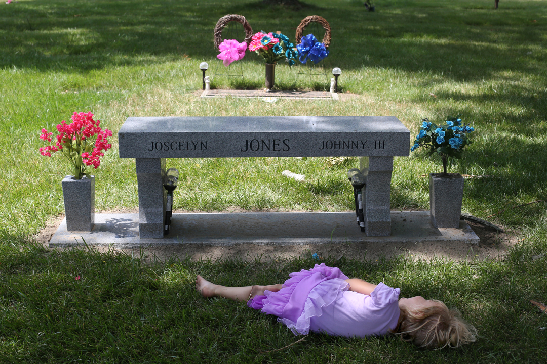 """I trusted him. I took him to the zoo with my kids this time last year. I let him live with my family,"" Josianne Thomas said of the teenager who dated and then murdered her daughter and teenage son in August of 2015. Ms. Thomas, who survived the same attack that claimed the lives of her two eldest children, visits the cemetery weekly. She often speaks directly to her deceased daughter Joscelyn and son Johnny as well. ""I just wish you were both still here,"" she said, ""or that I was in heaven with you."" Her twin daughters Hailey and Tiffany, pictured, were three years old at the time of the attack. As they grow, their memory of the event has faded, along with memories of their slain siblings."
