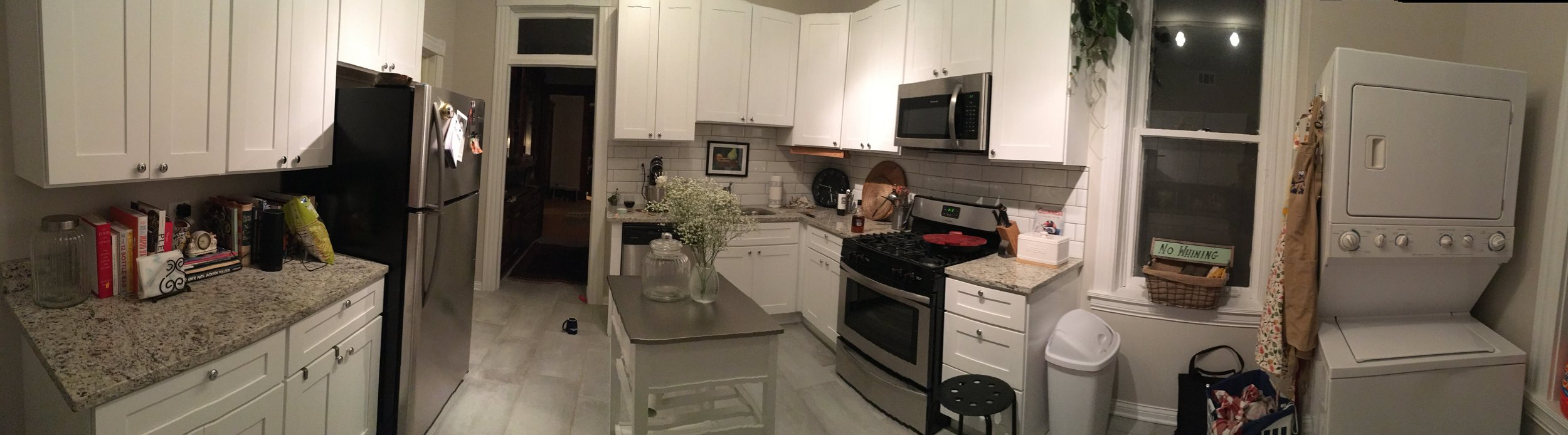 LOOK AT THE SPACE. Also look at how many cookbooks I have.