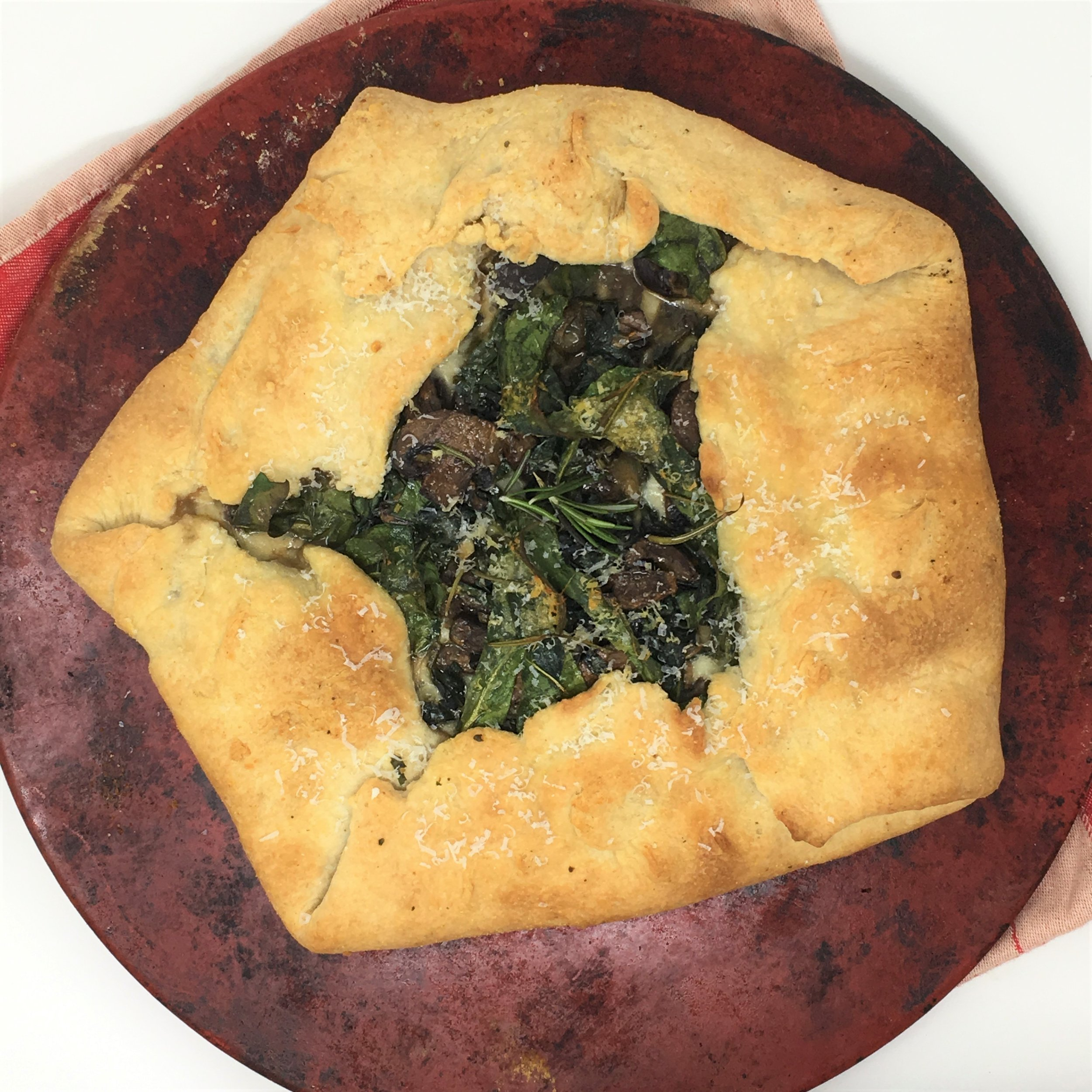 Mushroom and Swiss Chard Galette - Rustic is the new you.