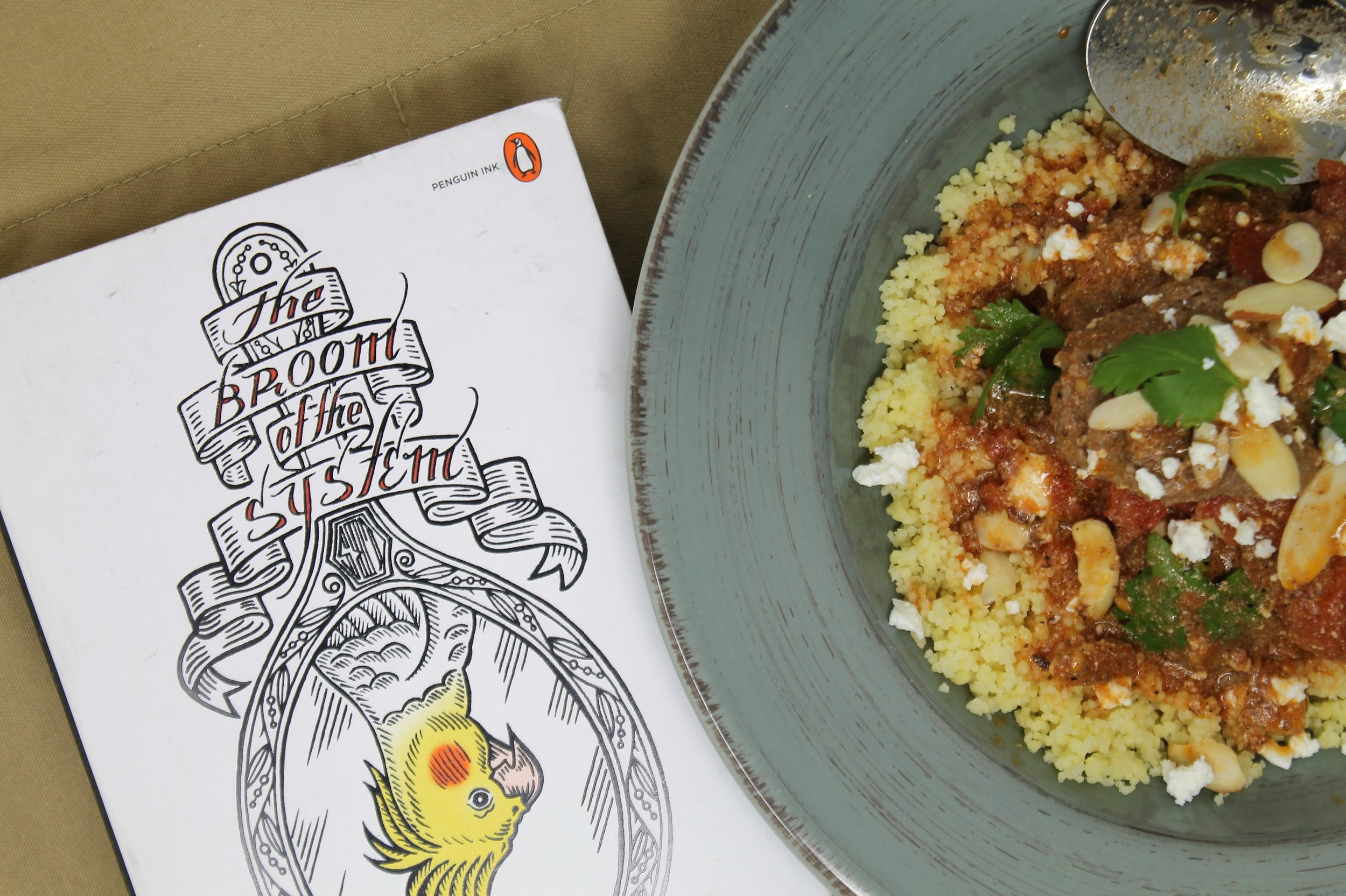 David Foster Wallace's Broom of the System and Moroccan Meatballs