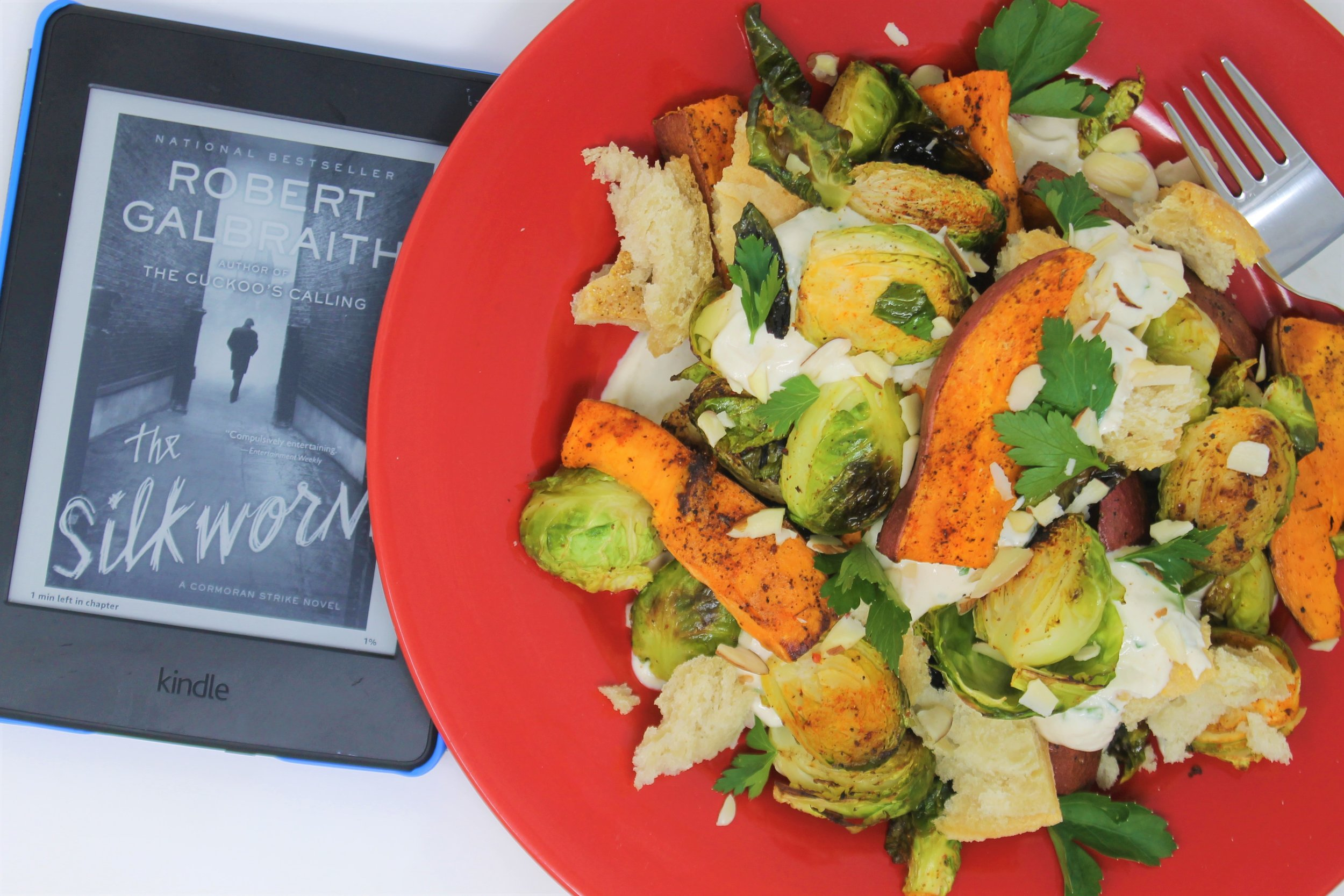 I embraced this salad into my stomach almost as fast as I embraced that book itno my head.