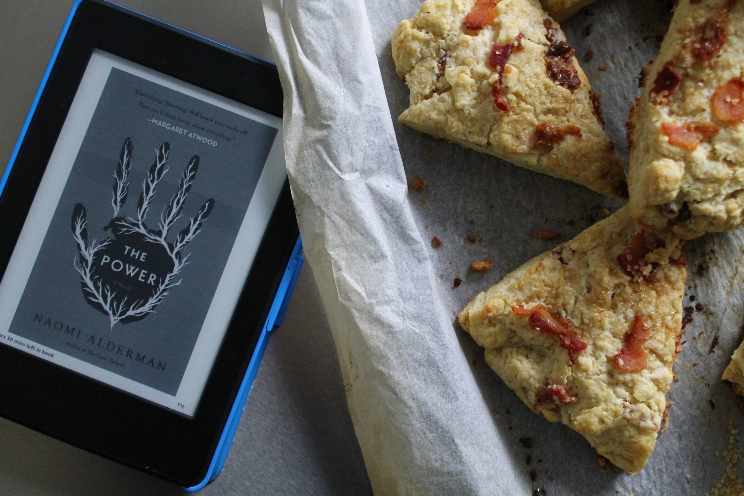 Smoked Maple Scones and The Power by Naomi Alderman