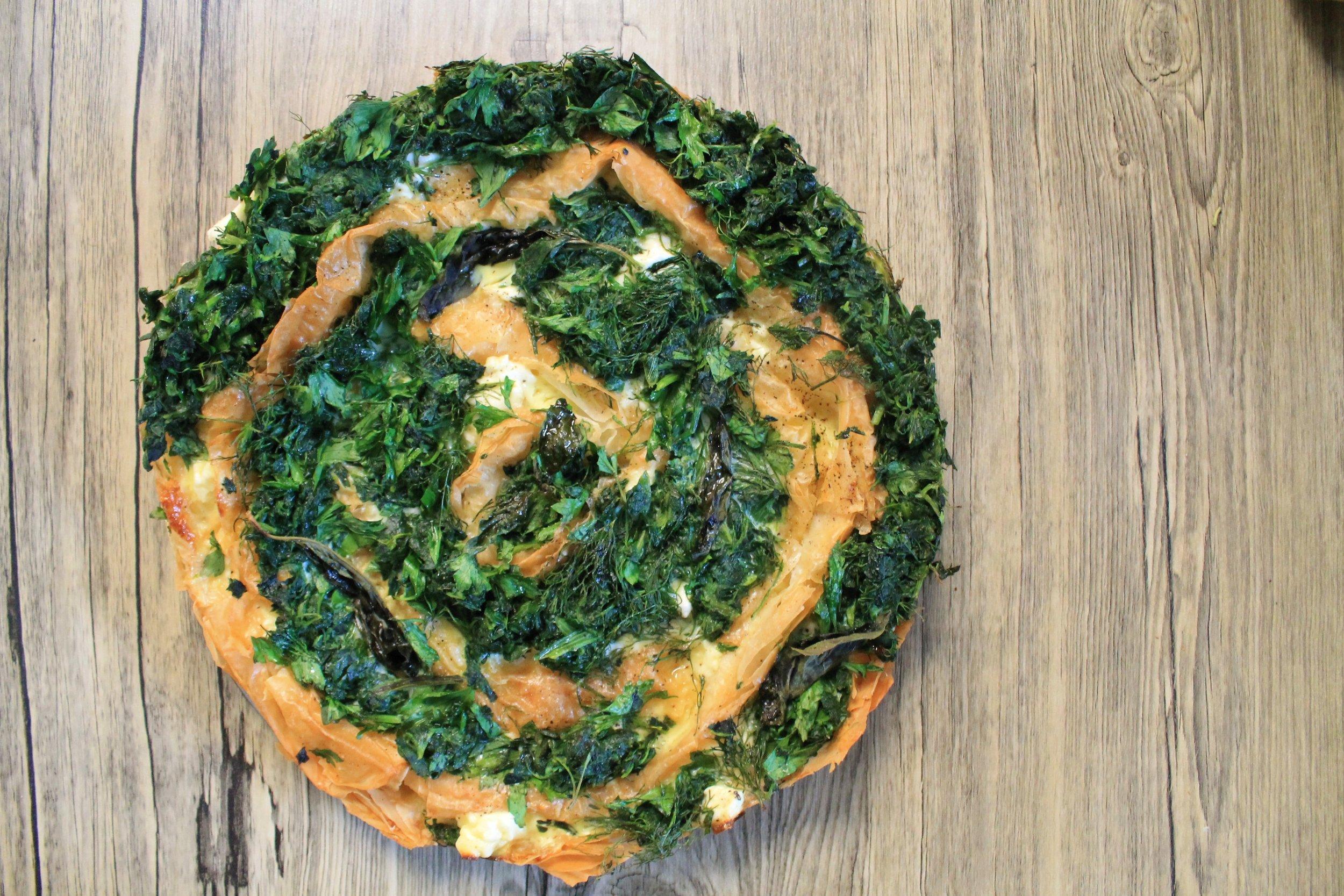 Herb Spiral Tart