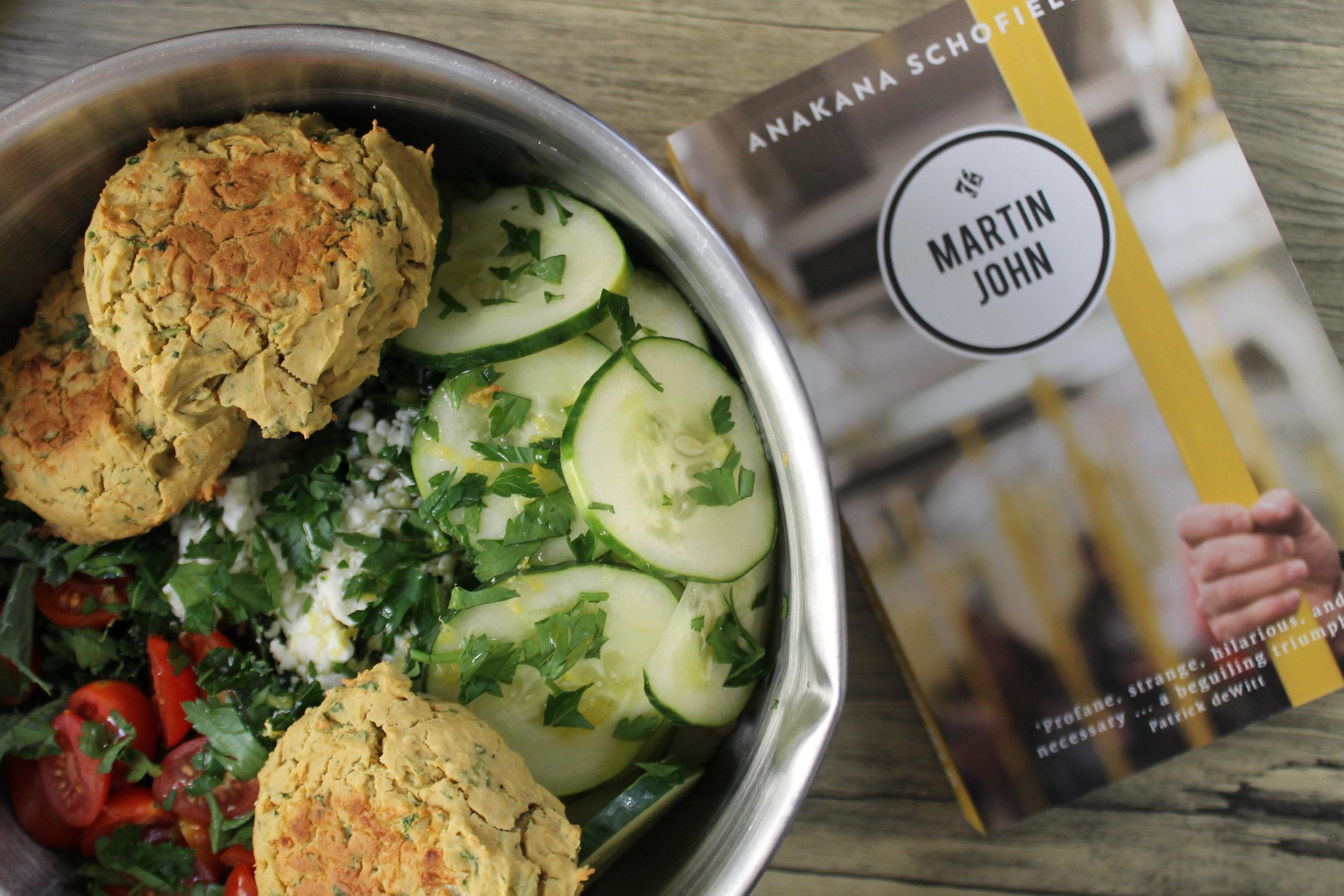 Baked Falafel Salad and Martin John