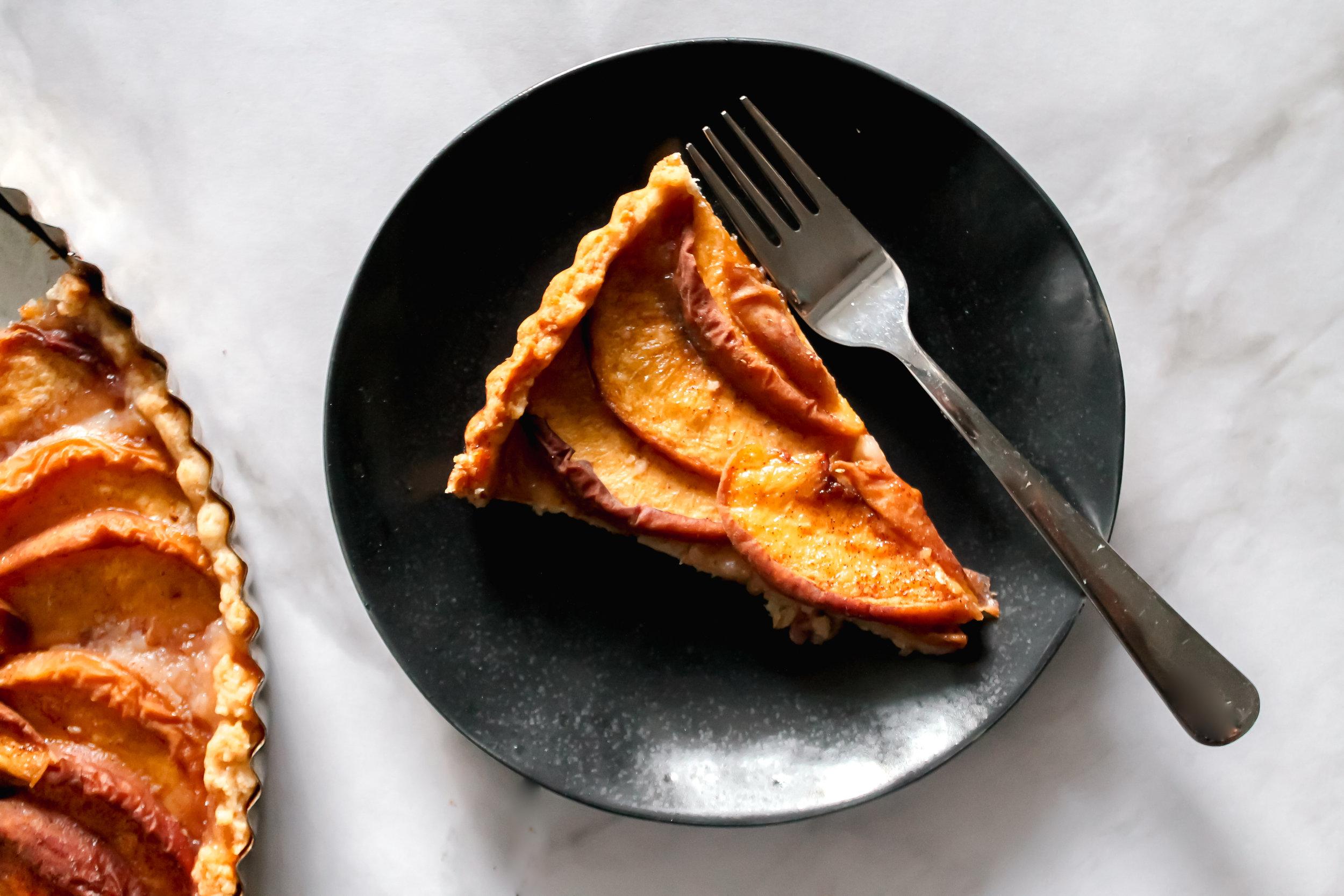 Honey Peach Tart - Or apple. Or pear. Or plum.