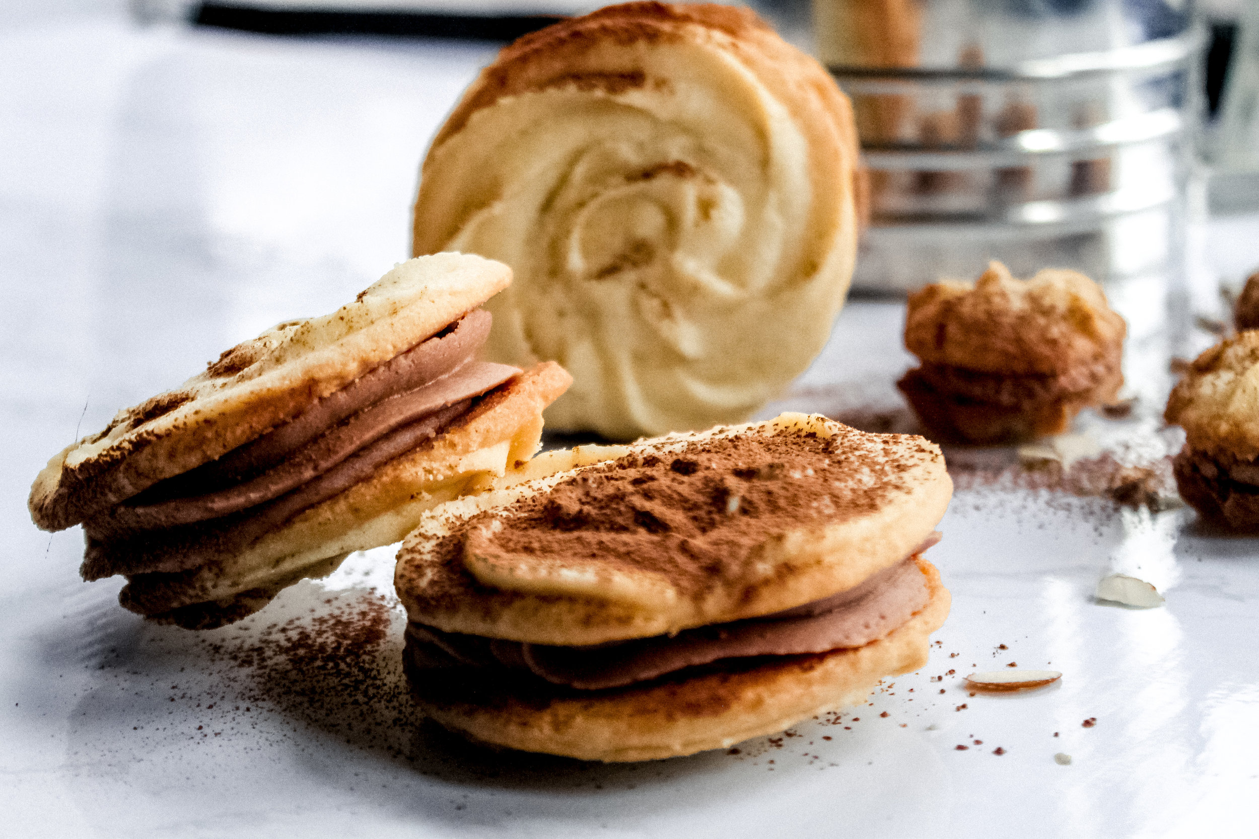 Almond Whirls - GBBO, but make it tasty and fattening.