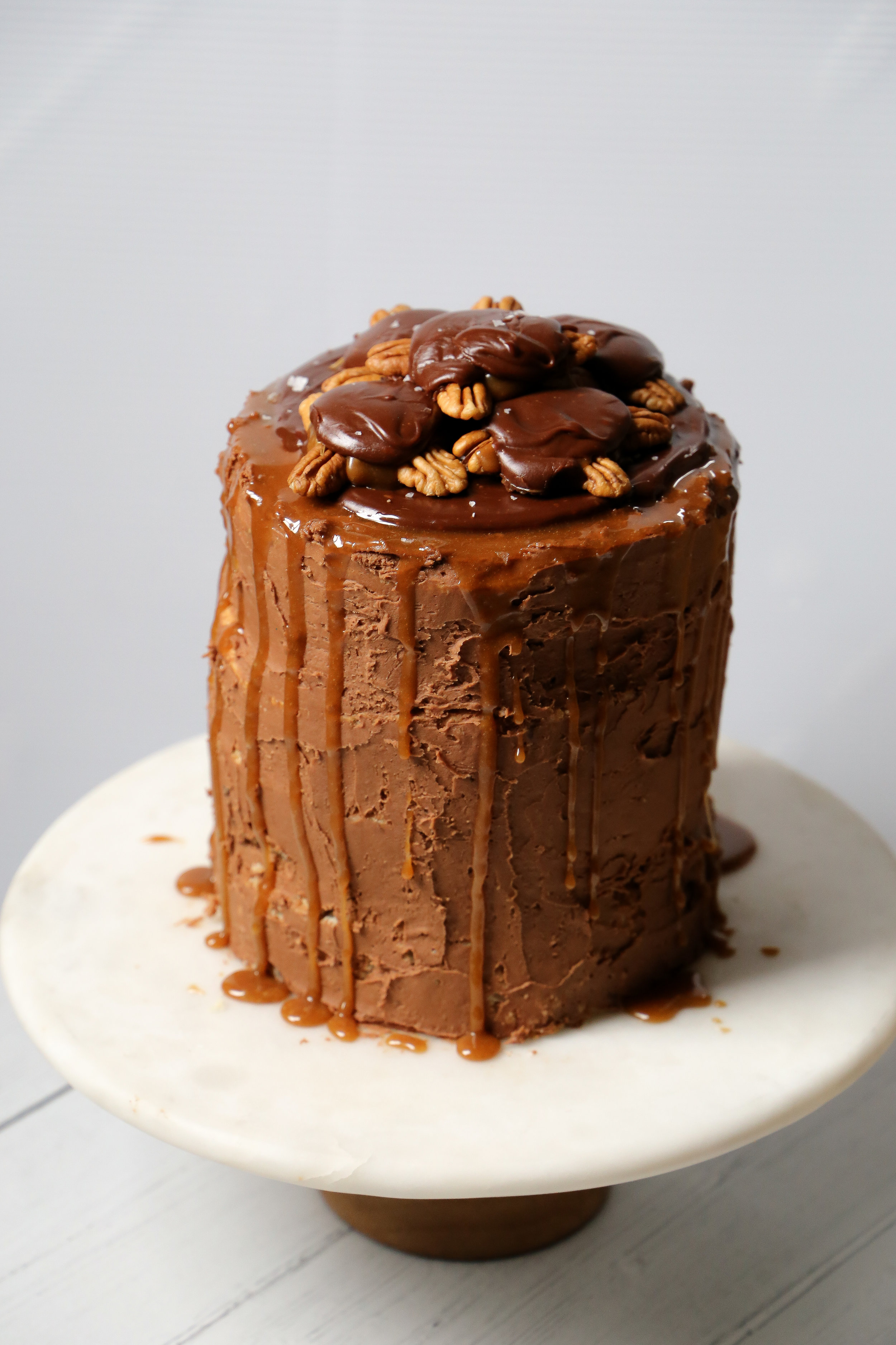 Chocolate Turtle Cake - An indulgence and a half.