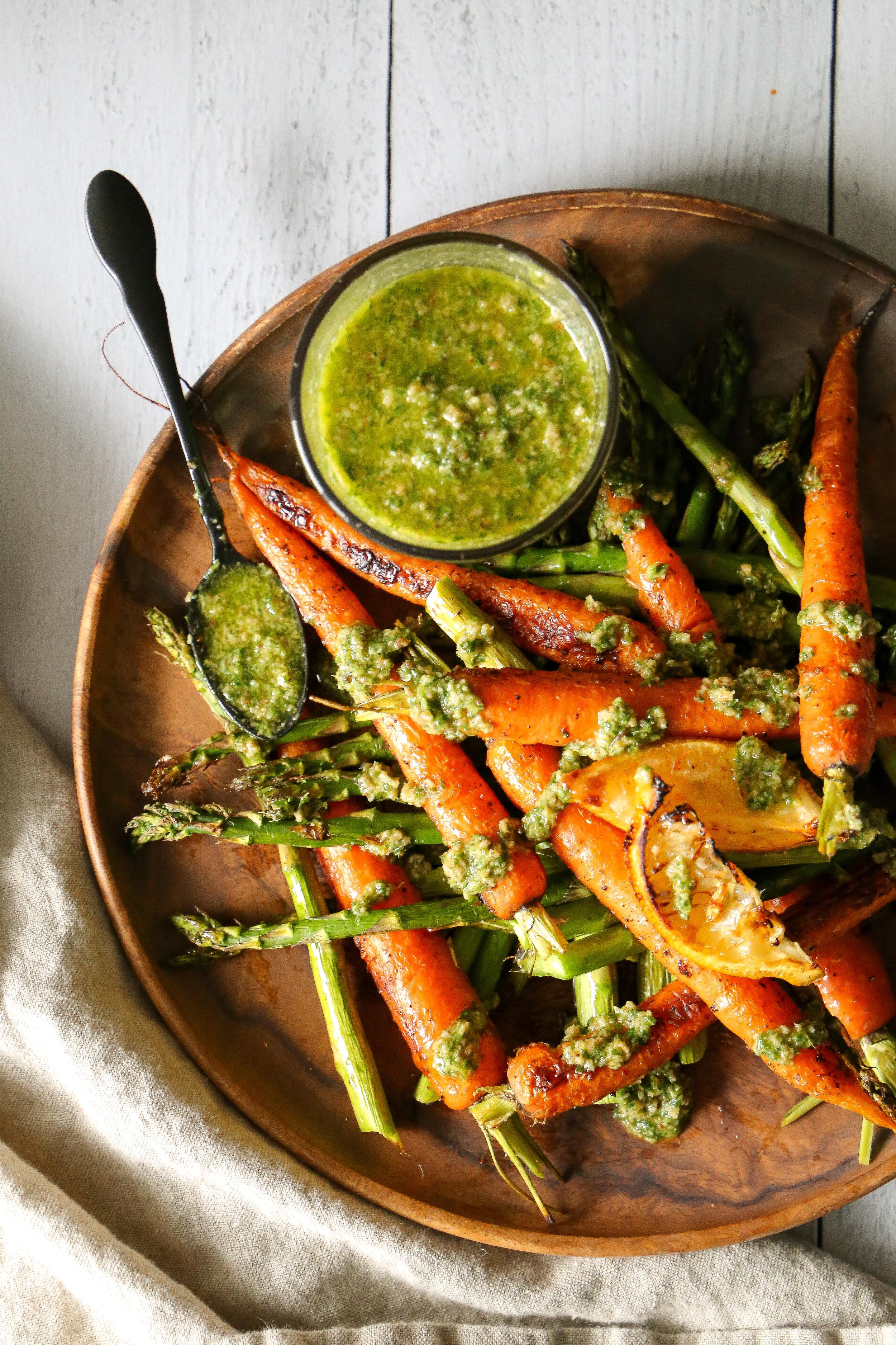Carrot Top Pesto - Because genius is genius is genius.
