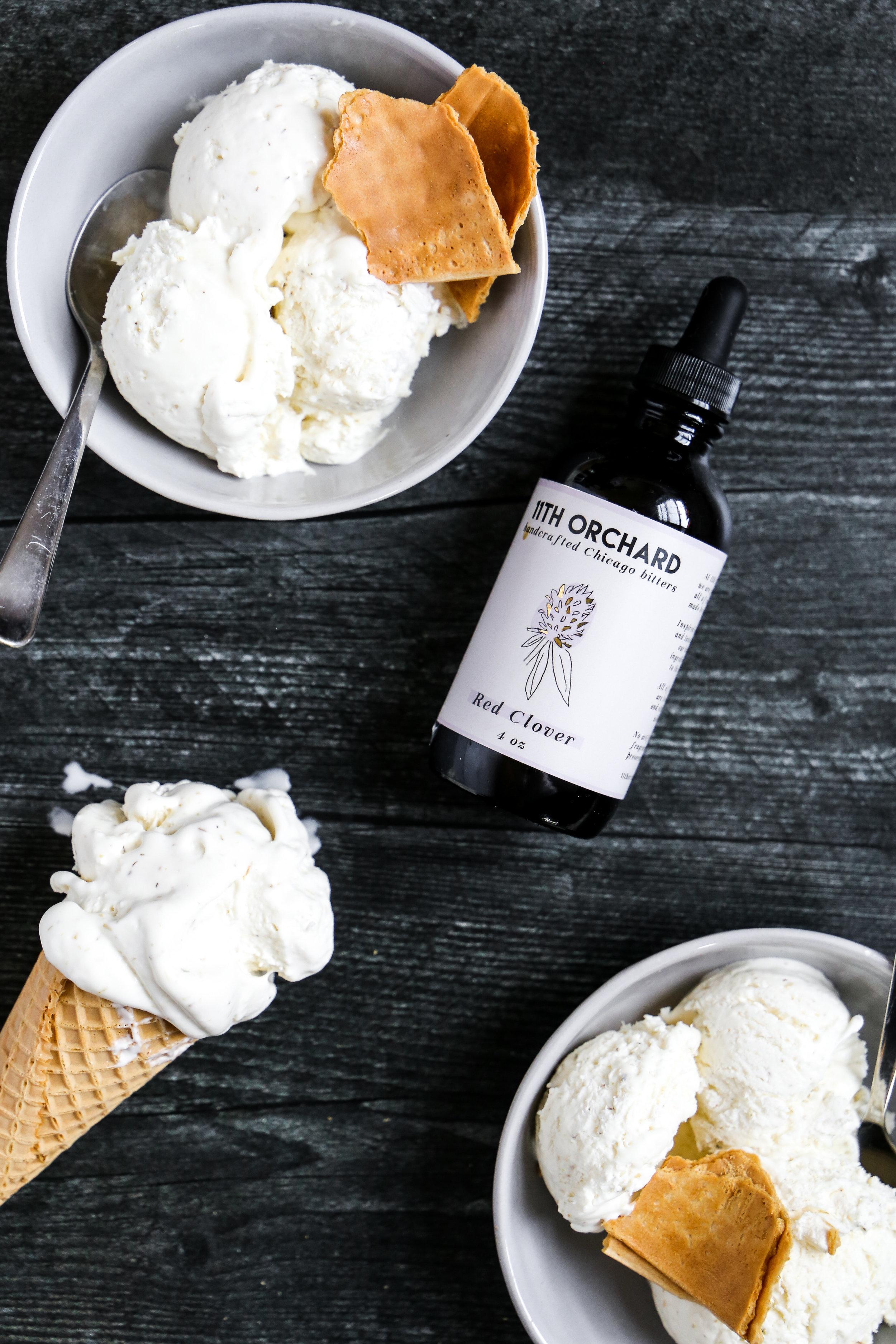 Chamomile Honey Ice Cream - So many layers, so much ice cream.