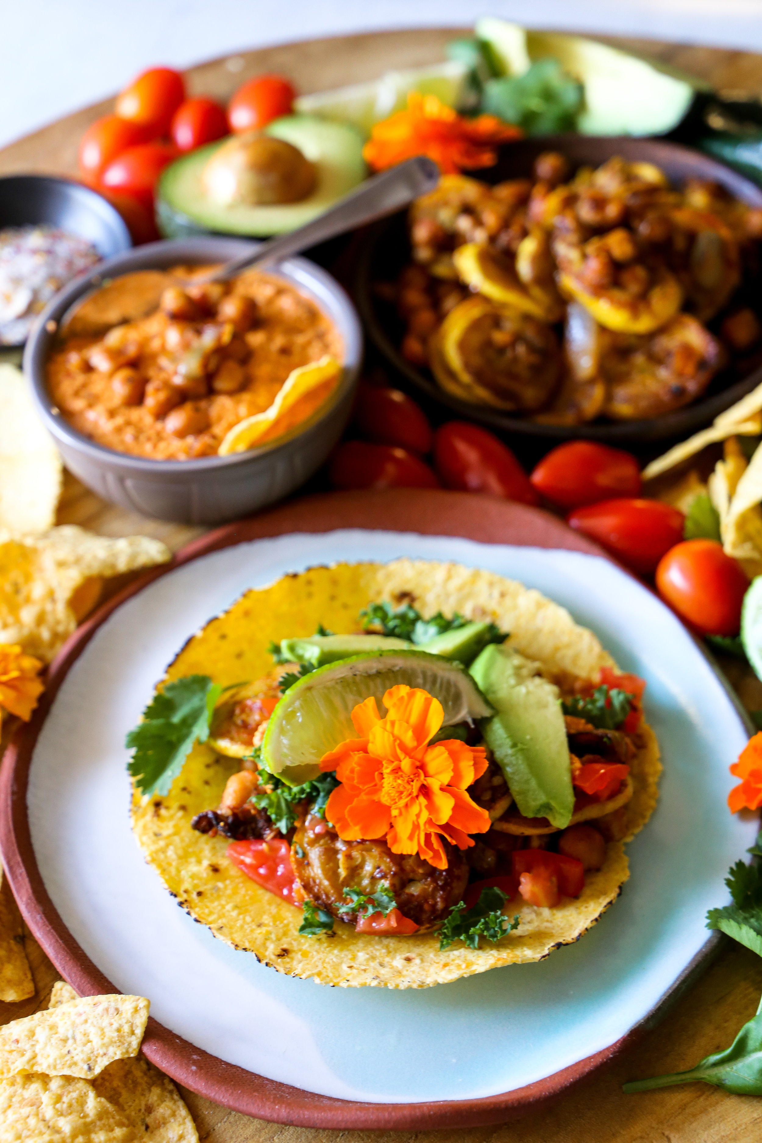 Smoked Veggie Tacos - Smoky vegetables in a spicy sauce make the perfect substitution.