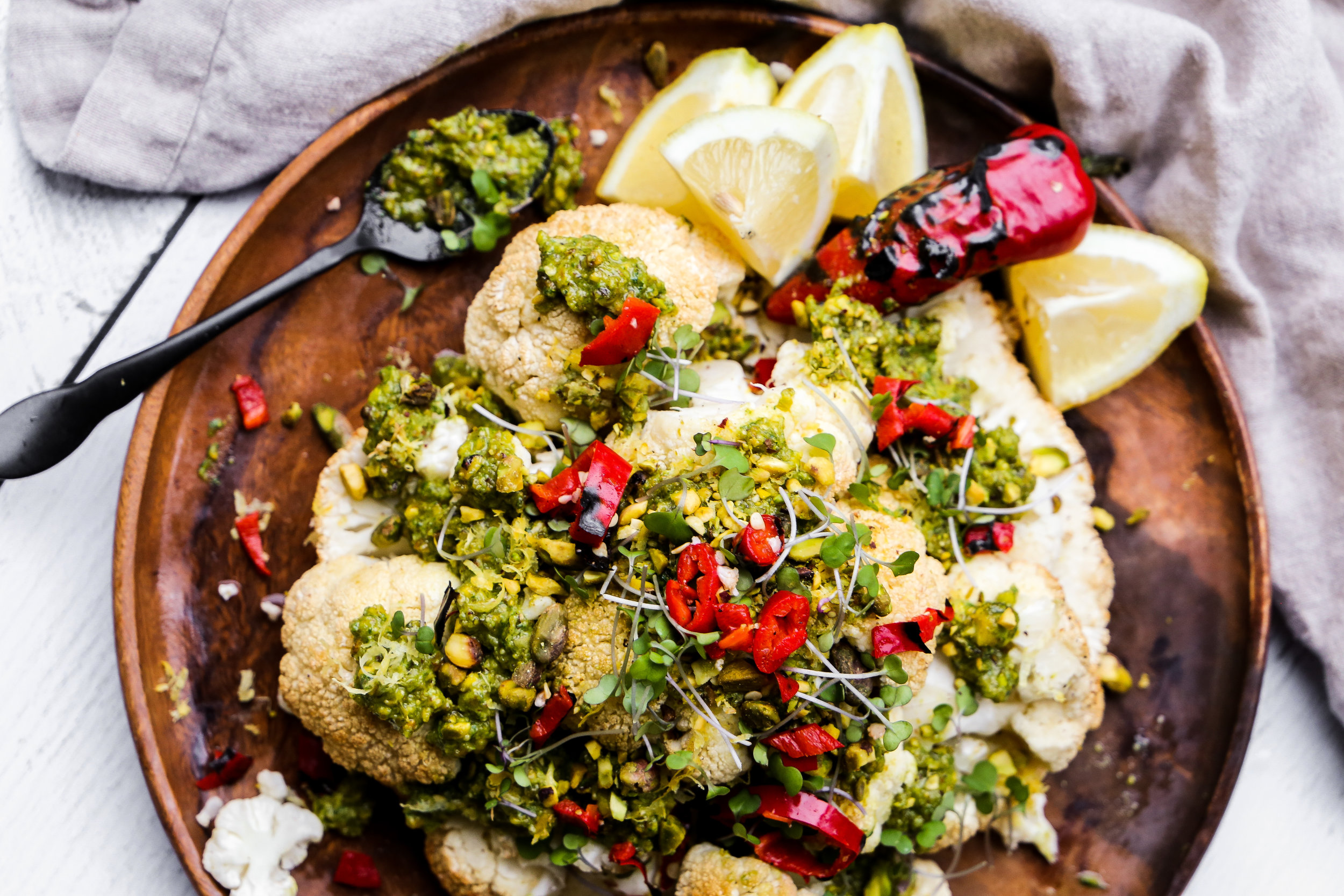 Jeweled Cauliflower - The crowning dish of a vegetarian table