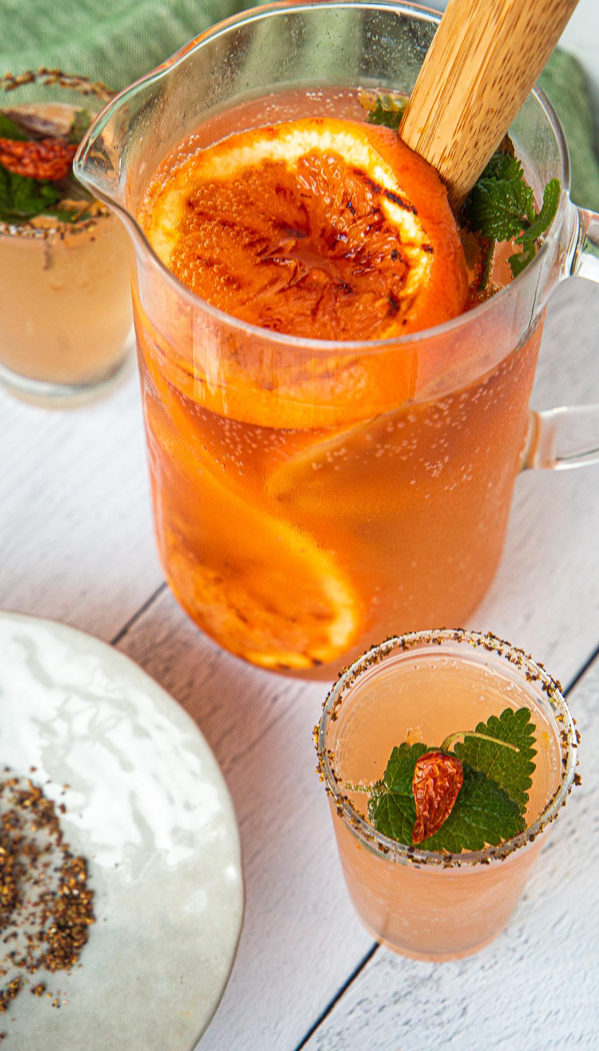 Smoked Grapefruit Punch - Mezcal optional, but encouraged.