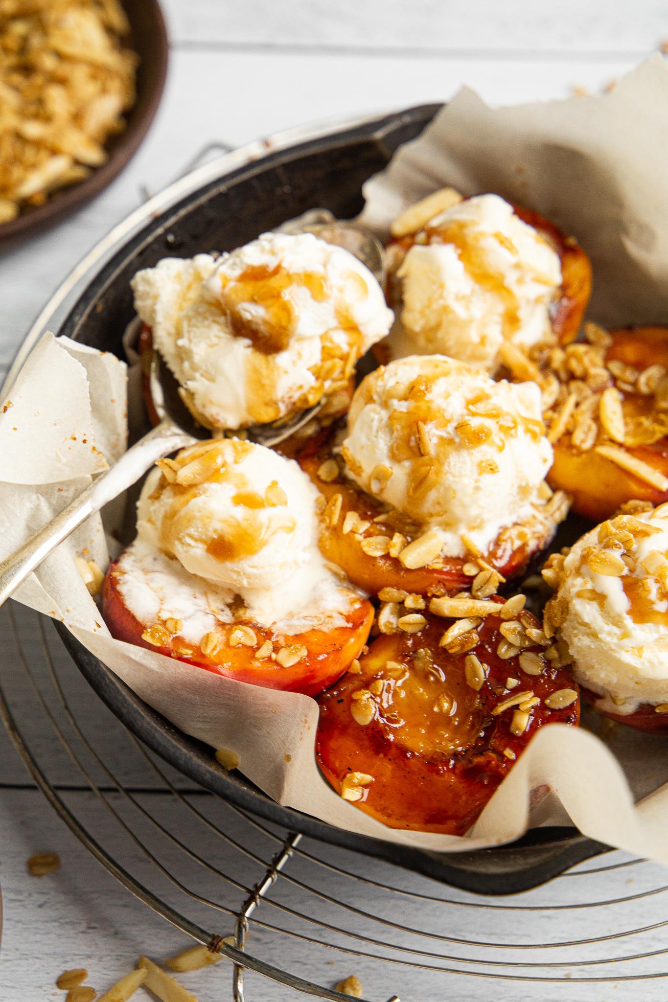 Balsamic and Honey Glazed Peaches