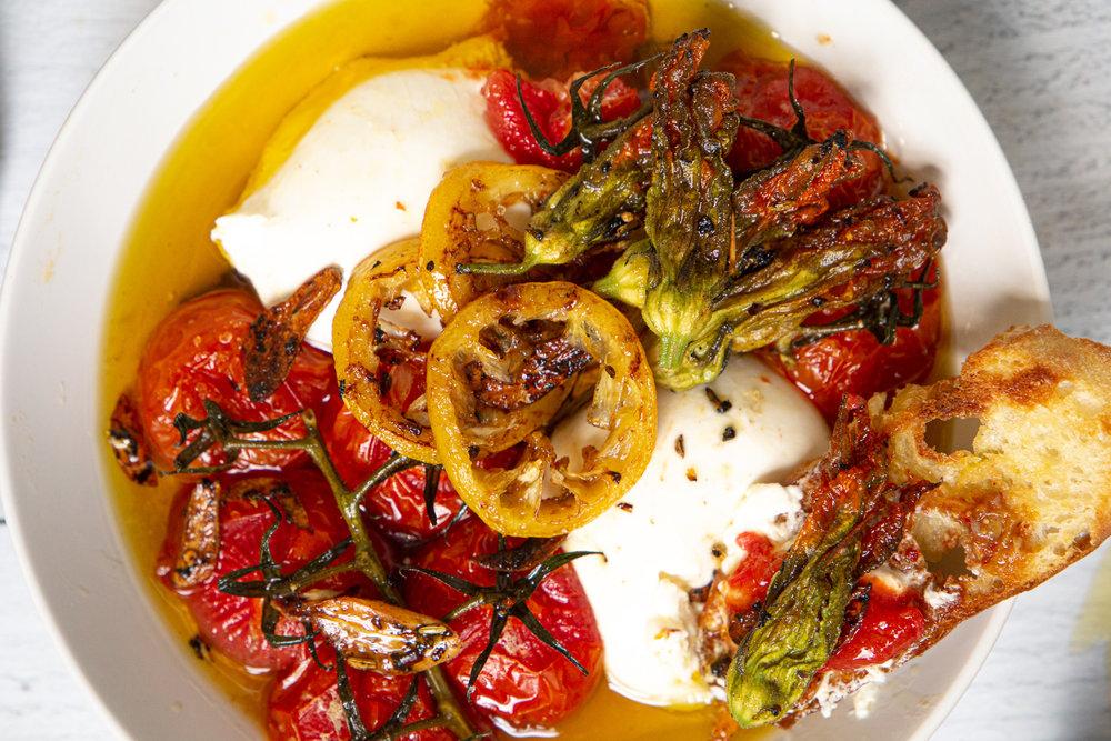 Tomato Confit with Burrata