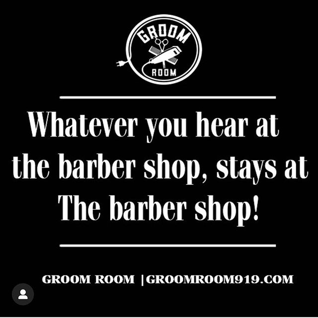 Just like Vegas🤫..... www.GroomRoom919.com ✂️💈✔️💯 __________________________________________________________💈Groom Room Barbershop💈 | 2716 Chapel Hill Rd ➡️ {tap the link in our bio or call 919.797.1286 for appointments}  #GroomRoom919 #🤫 #BarbershopRules #LikeVegas #Confidential #G14Classified  #NoGossip #Success #Satisfaction #Confidence #LookGood #FeelGood #BullCityBarber #Barbershop #BarbersWorldWide #NCBarbers #RDUBarbers #DurhamBarbershop #DurhamBarbers  #BarberLove #Haircut  #Bullcity #Durham #RDUBarbers #DurhamBusiness #DurhamHair #NorthCarolina #919 #919Barbers #BarberLife