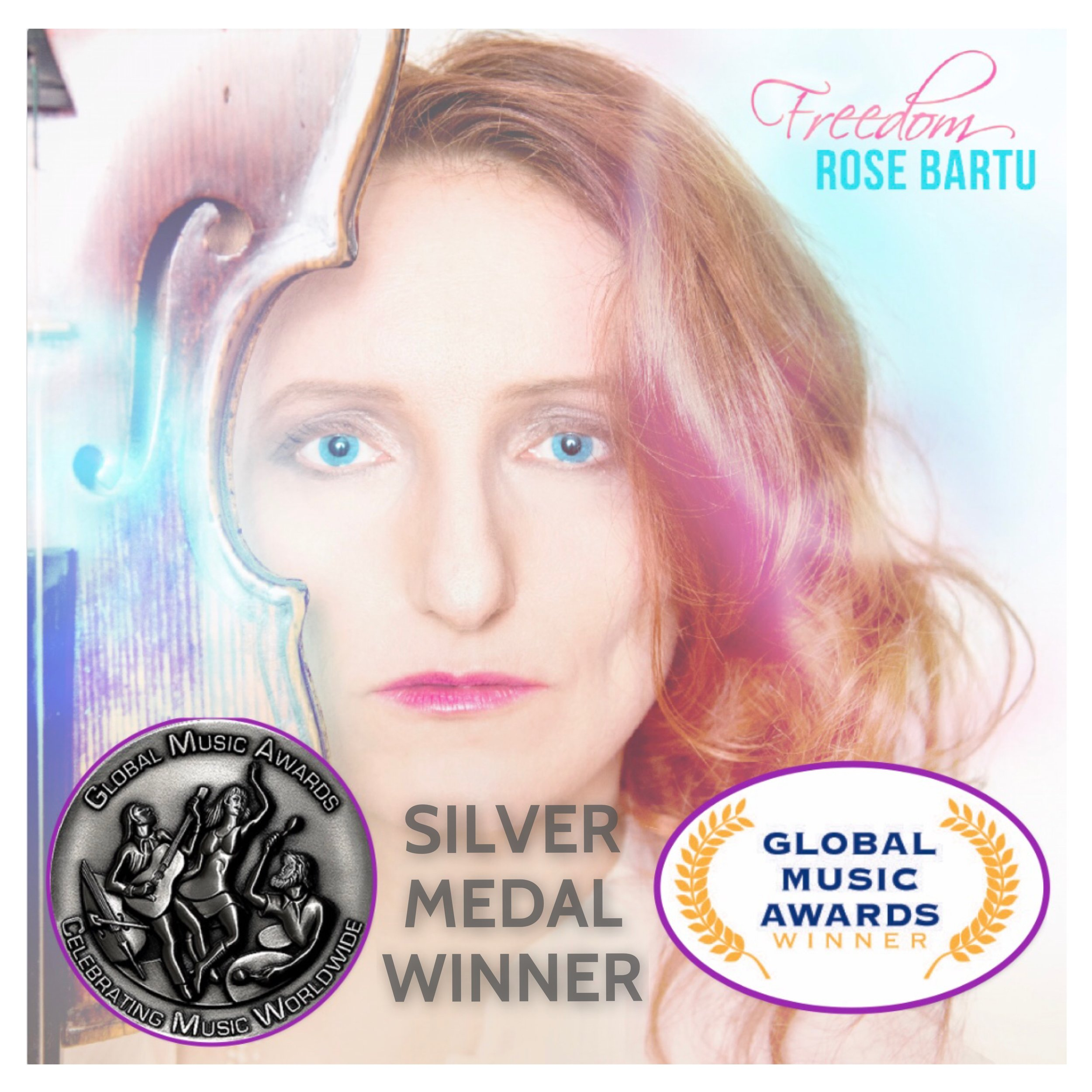 The  Single FREEDOM  won the Silver Medal for the Global Music Awards!