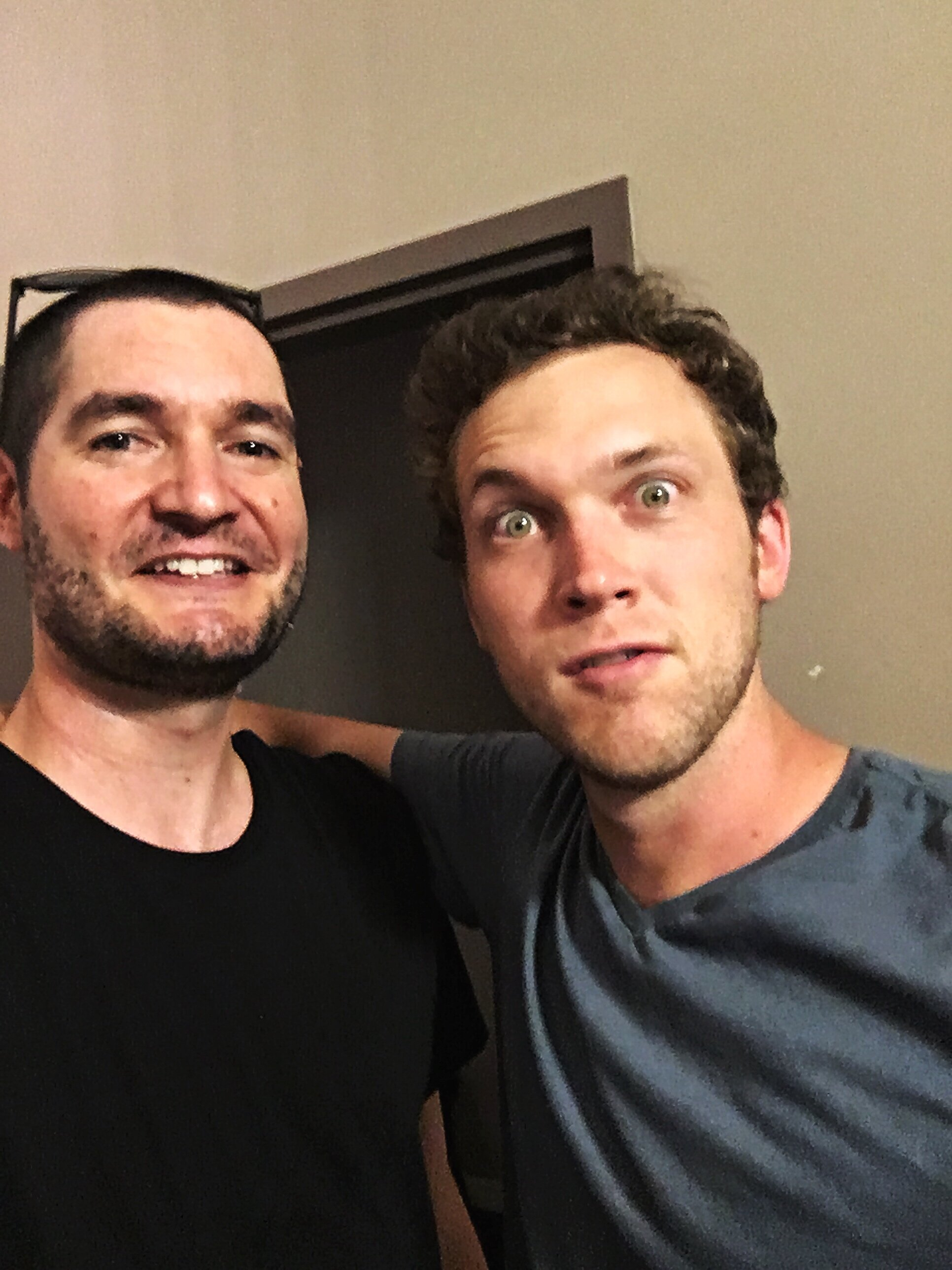 David & Phillip Phillips backstage at Wilmington's Greenfield Lake Amphitheater