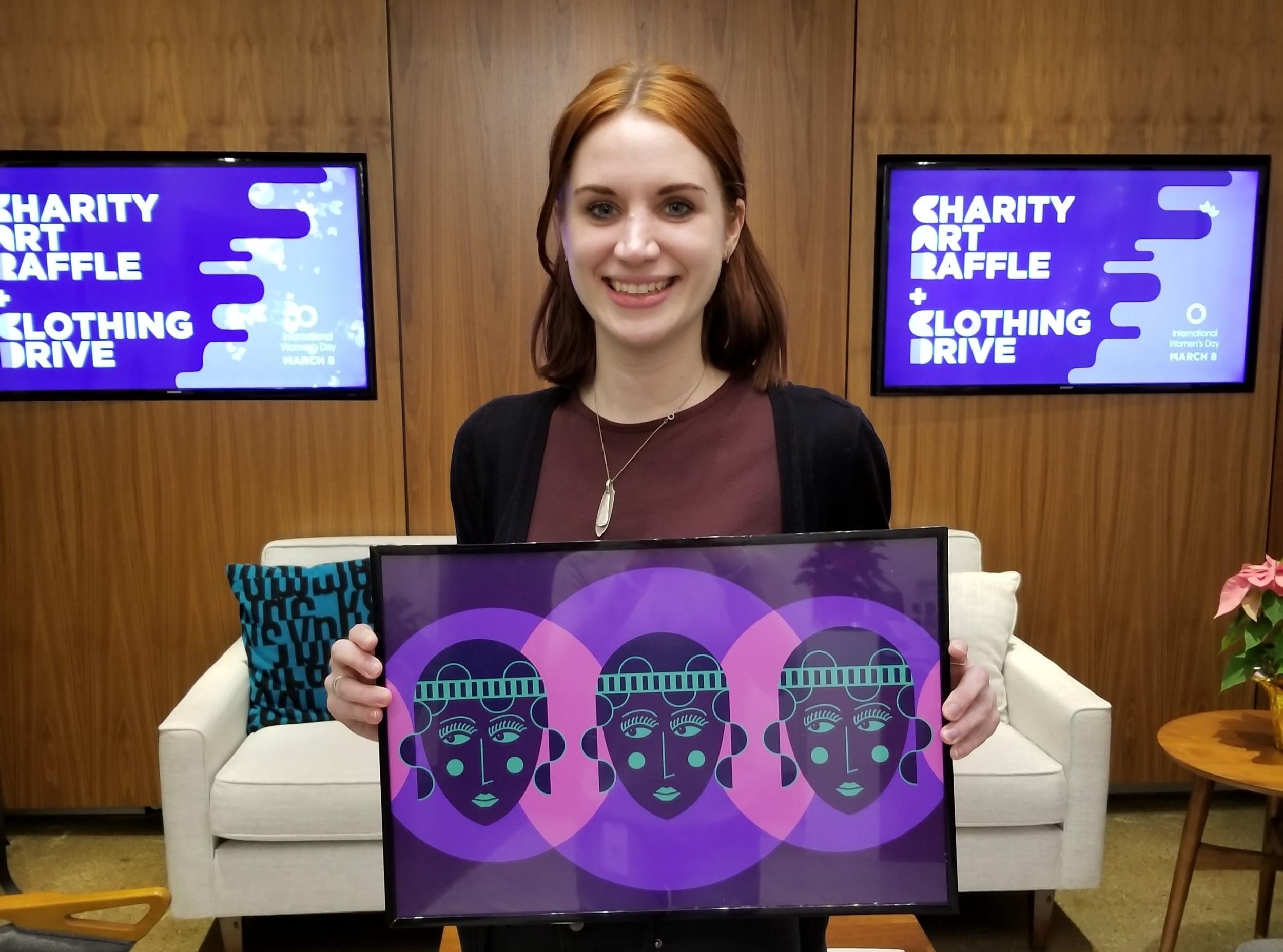 Charity Art Raffle in celebration of Women's Day.