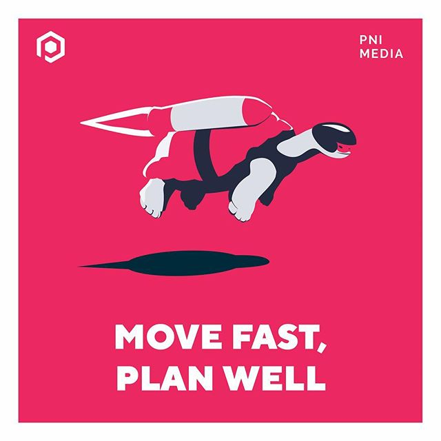 Our new value #3️⃣ is Move Fast, Plan Well. We're always on our A-game, ready to put the next project into action. But this value is a reminder that careful planning is equally important as momentum. 🐢 . . . Read our blog for more. #linkinbio #wearePNI #vantech #companyculture #vantech #yvrtech #bctech #uidesign #corporateevents #PNImedia #scavengerhunt #strategy #corevalues #speed #planning #projectmanagement
