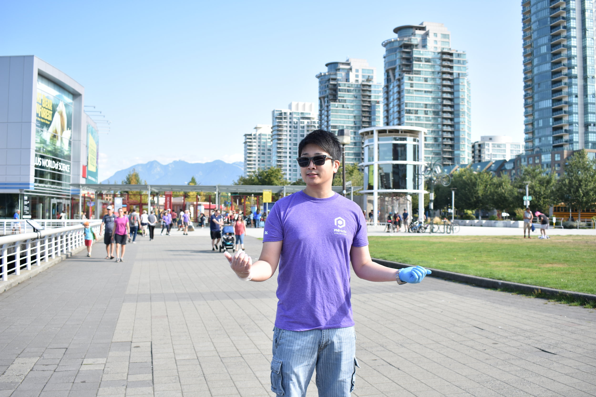 The clean-up took place around False Creek.